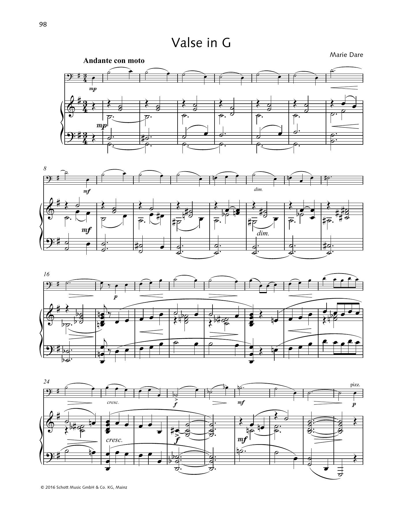 Valse in G Sheet Music