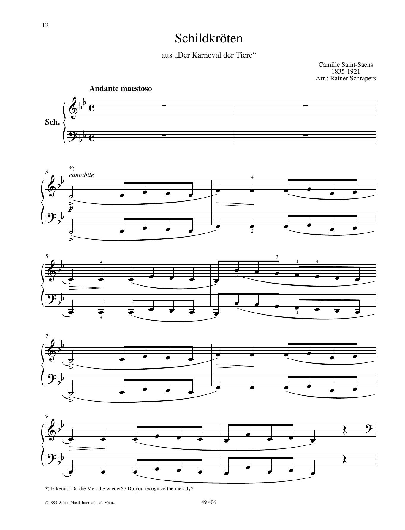 Tortoises Sheet Music