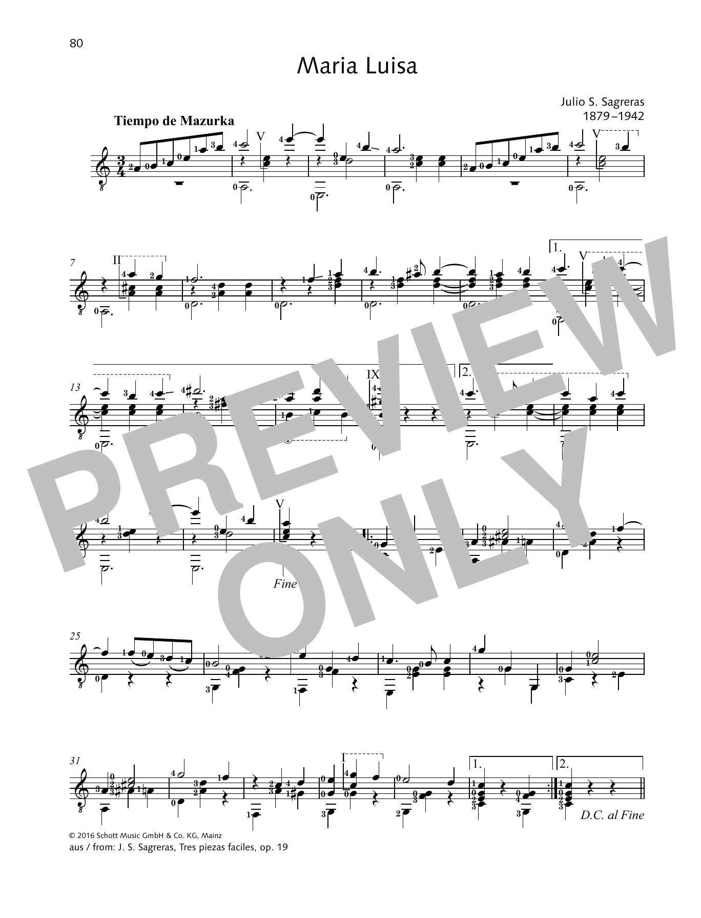 Maria Luisa Sheet Music