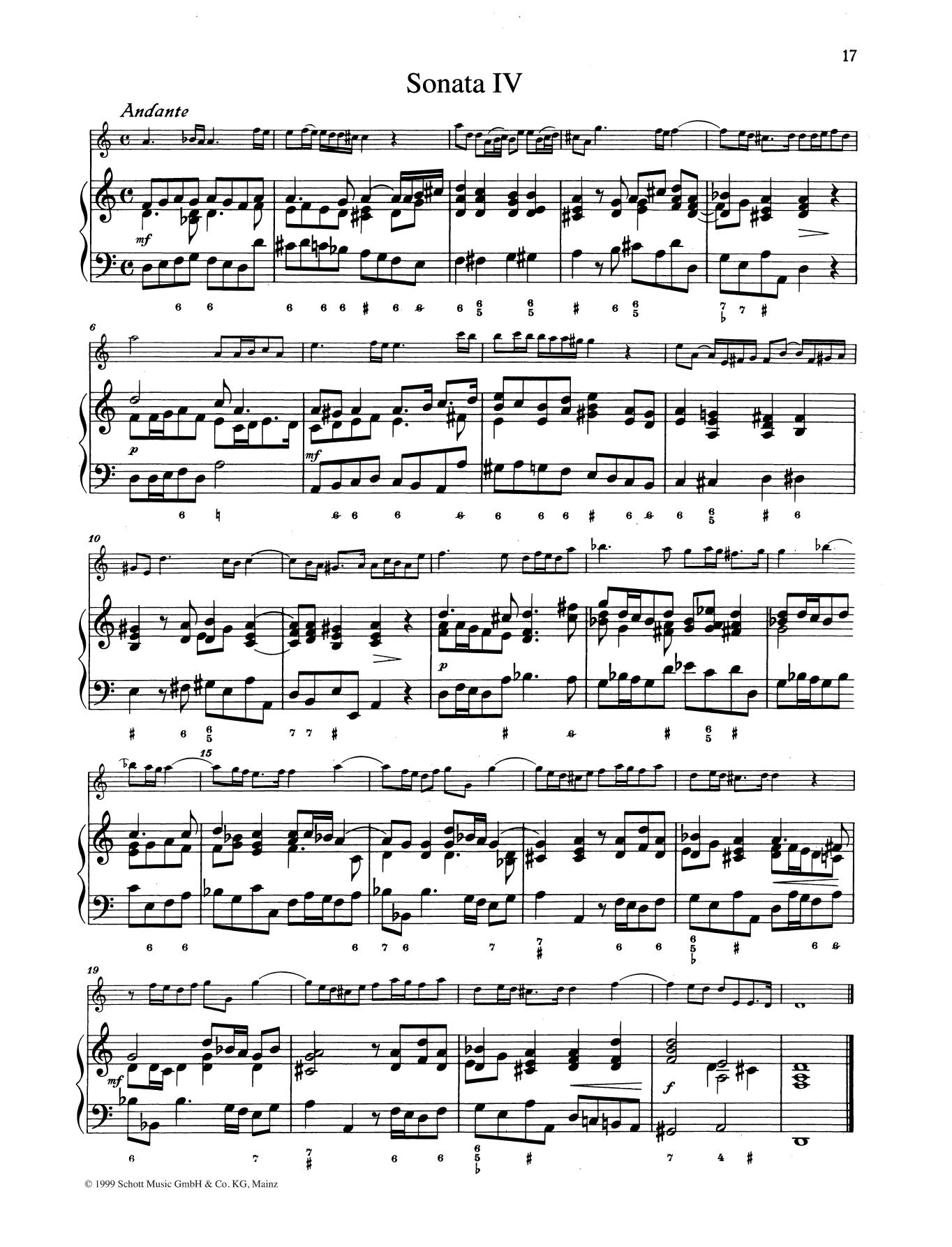 Sonata No. 4 Sheet Music