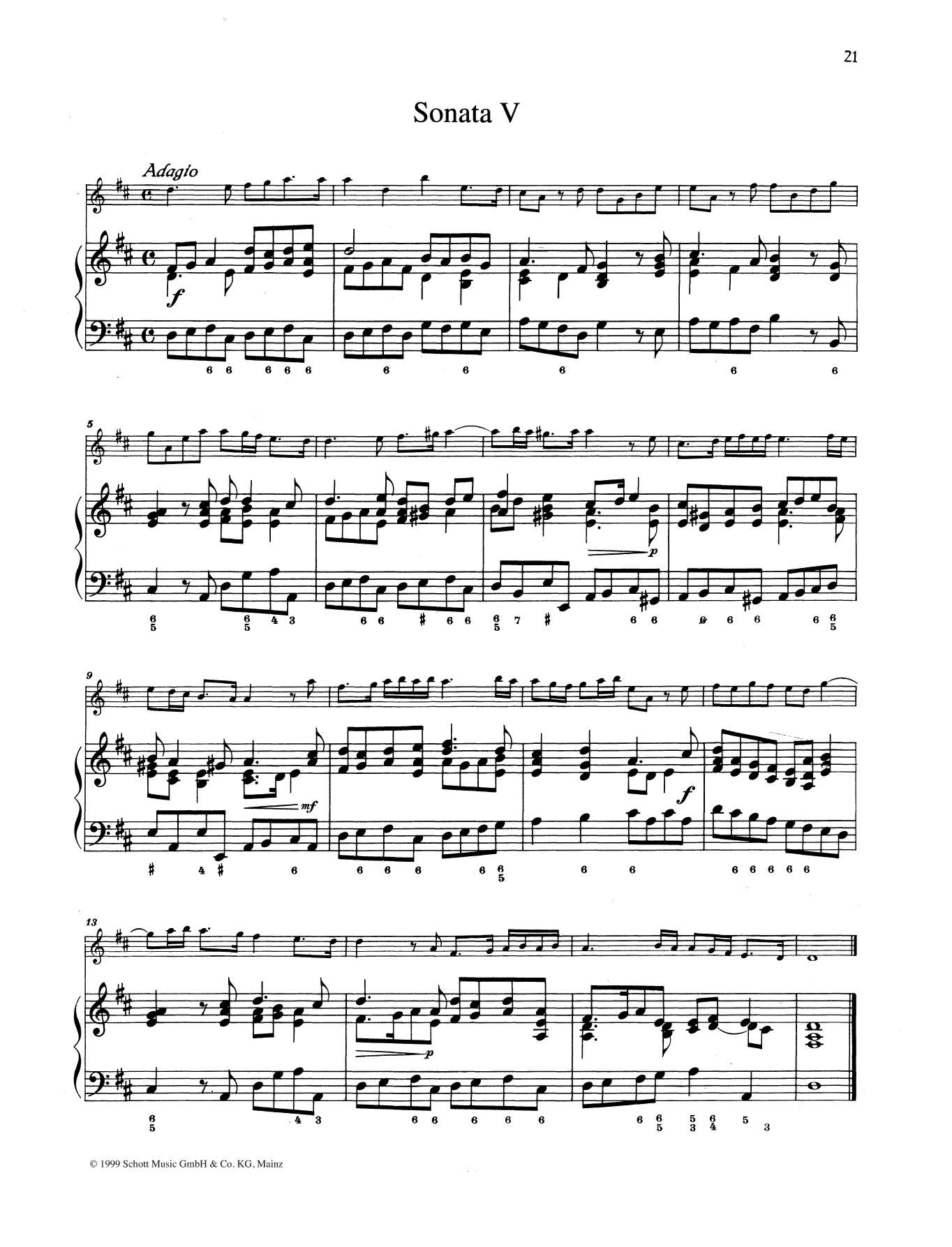 Sonata No. 5 Sheet Music