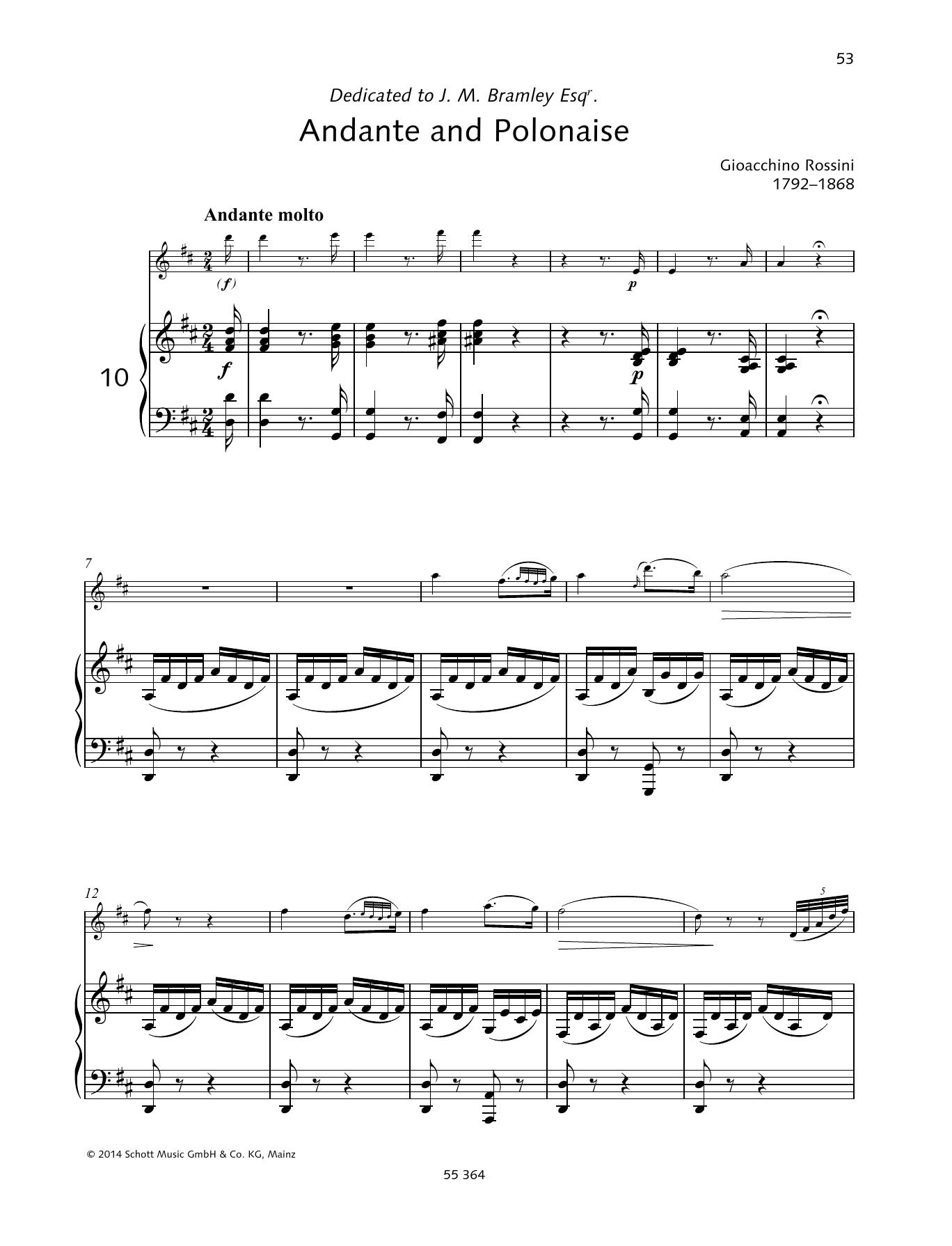 Andante and Polonaise Sheet Music