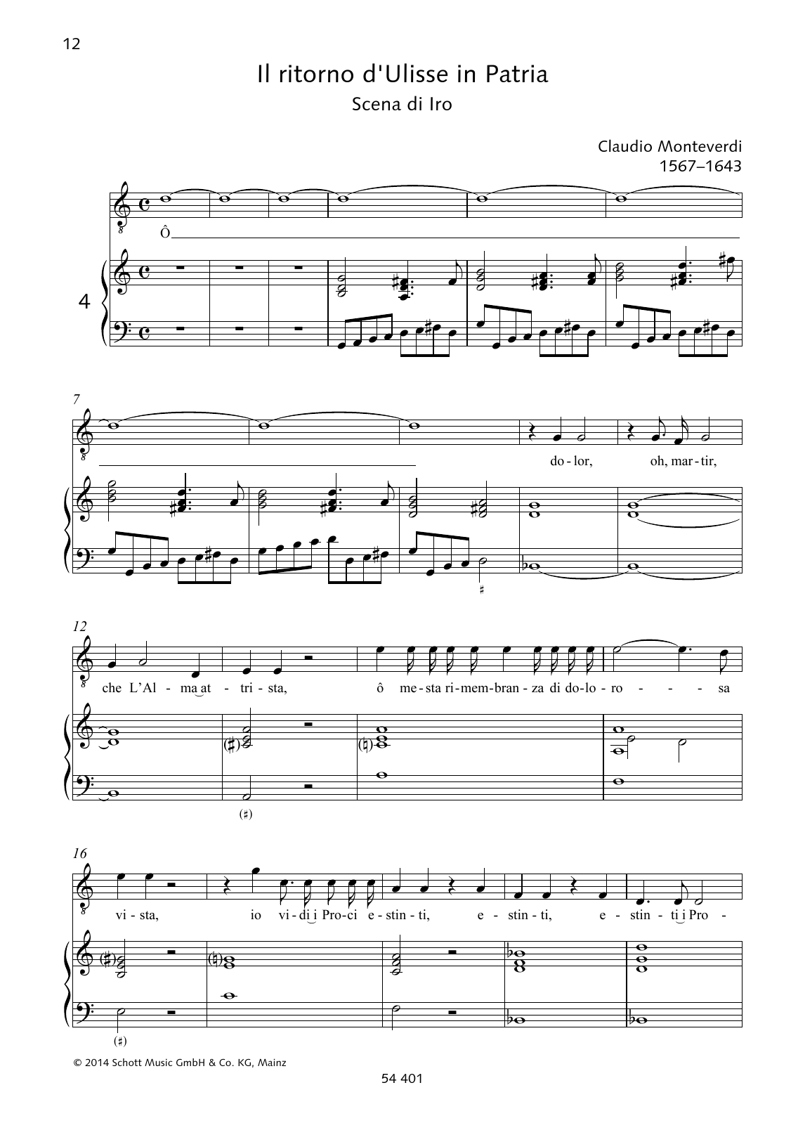 Ô dolor, oh, martir Sheet Music