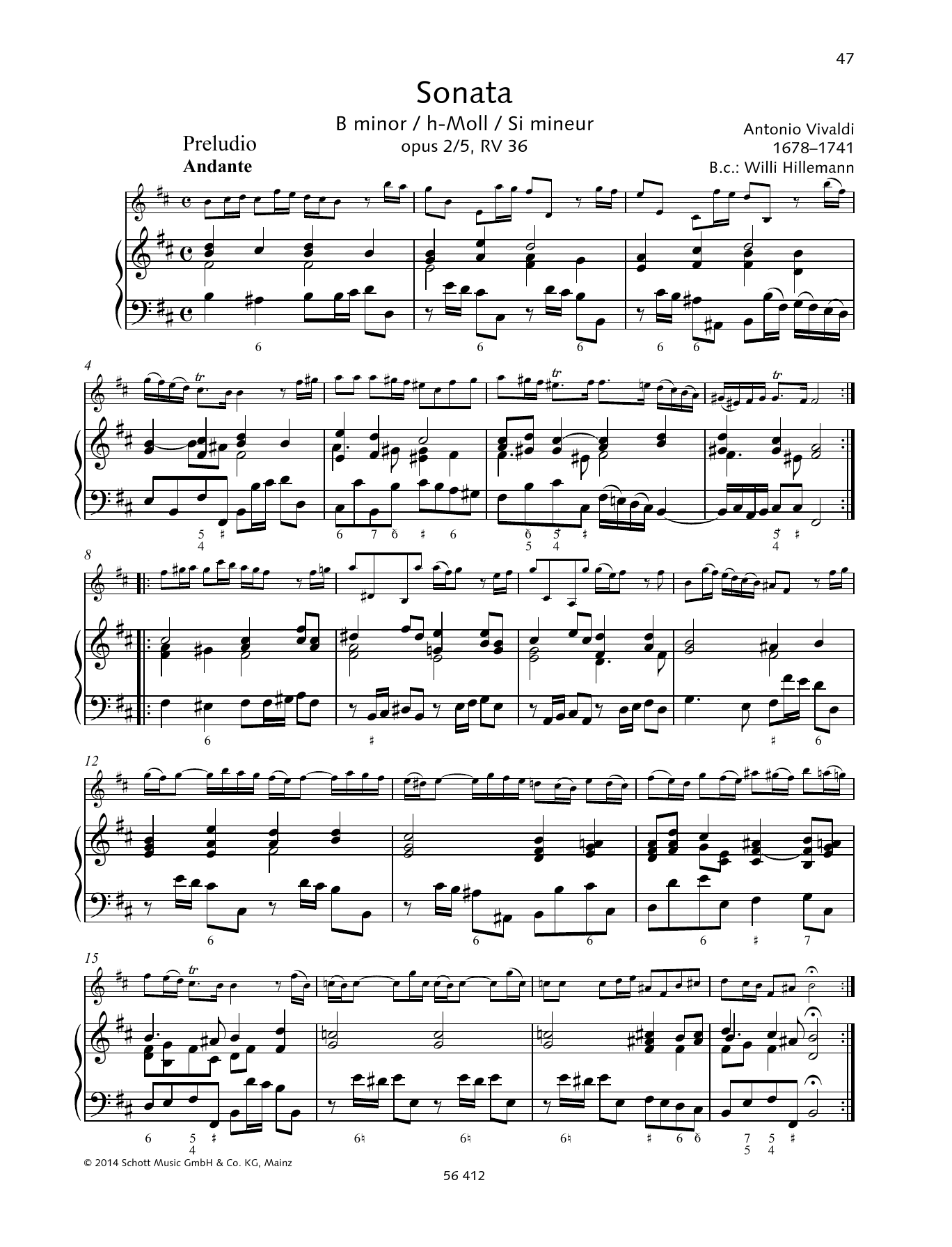 Sonata B Minor Sheet Music