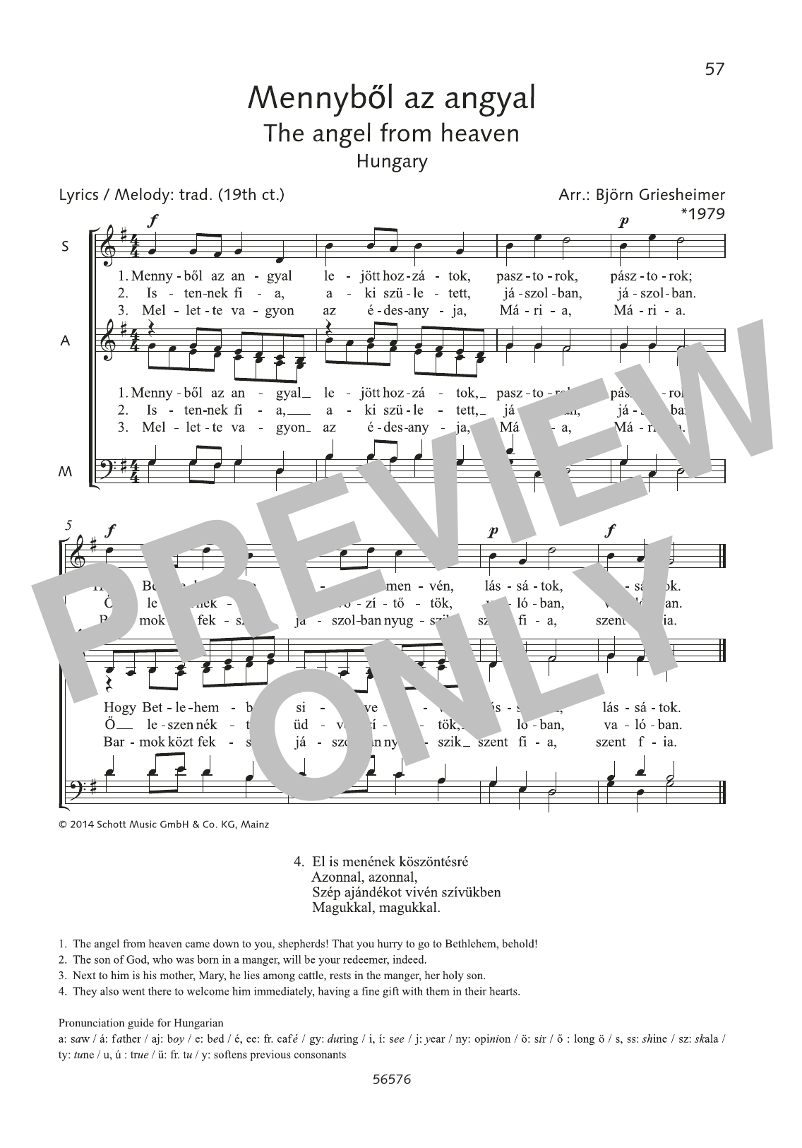 Mennyböl az angyal Sheet Music