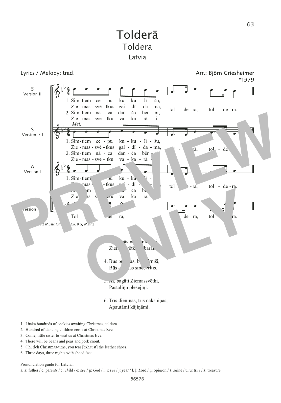 Toldera Sheet Music