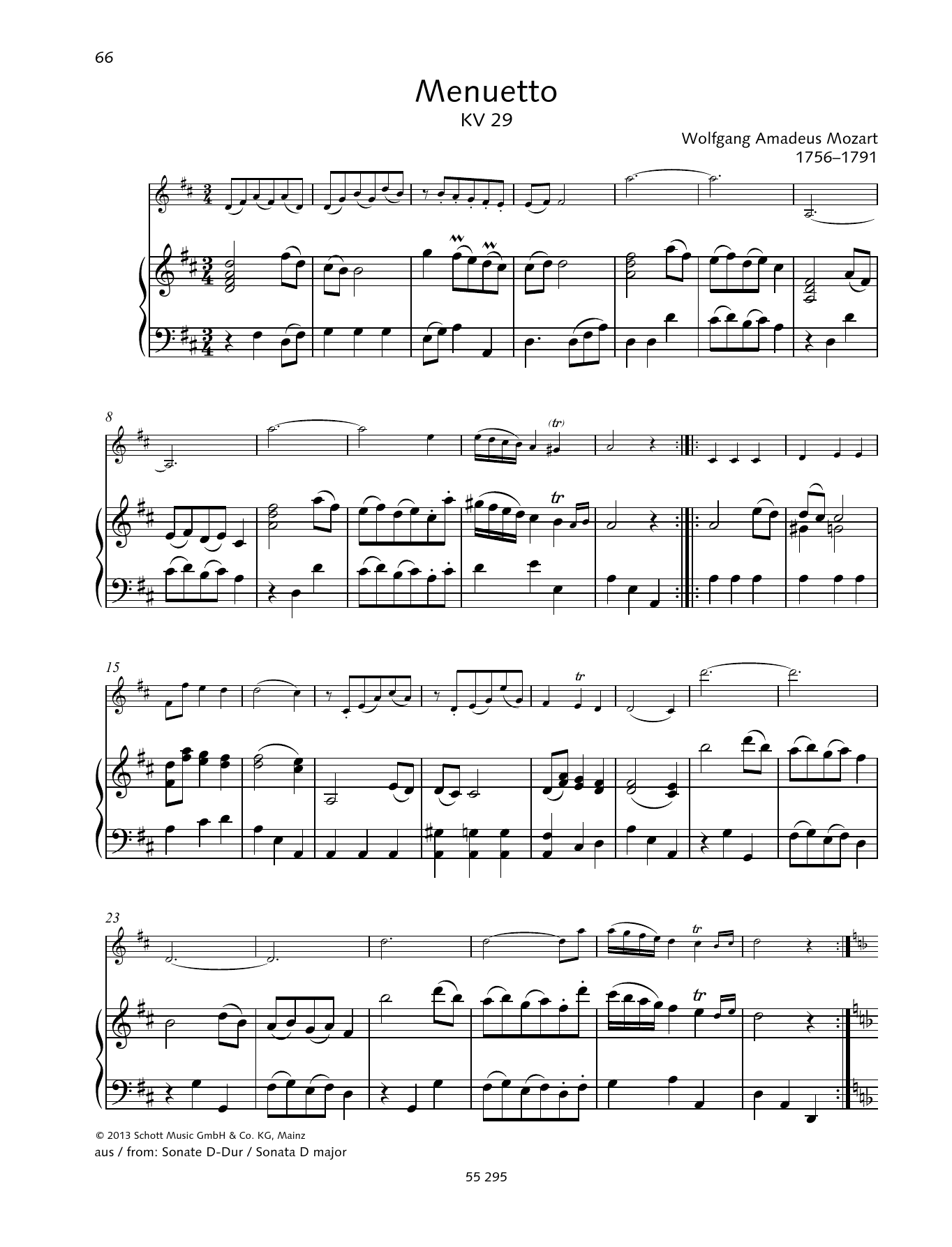 Menuetto Sheet Music