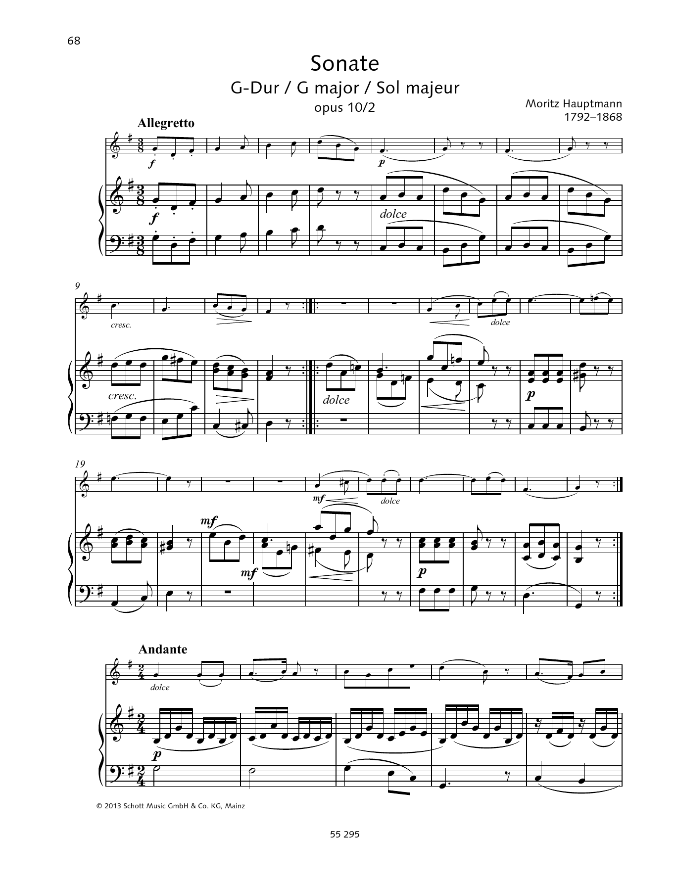 Sonata G Major Sheet Music