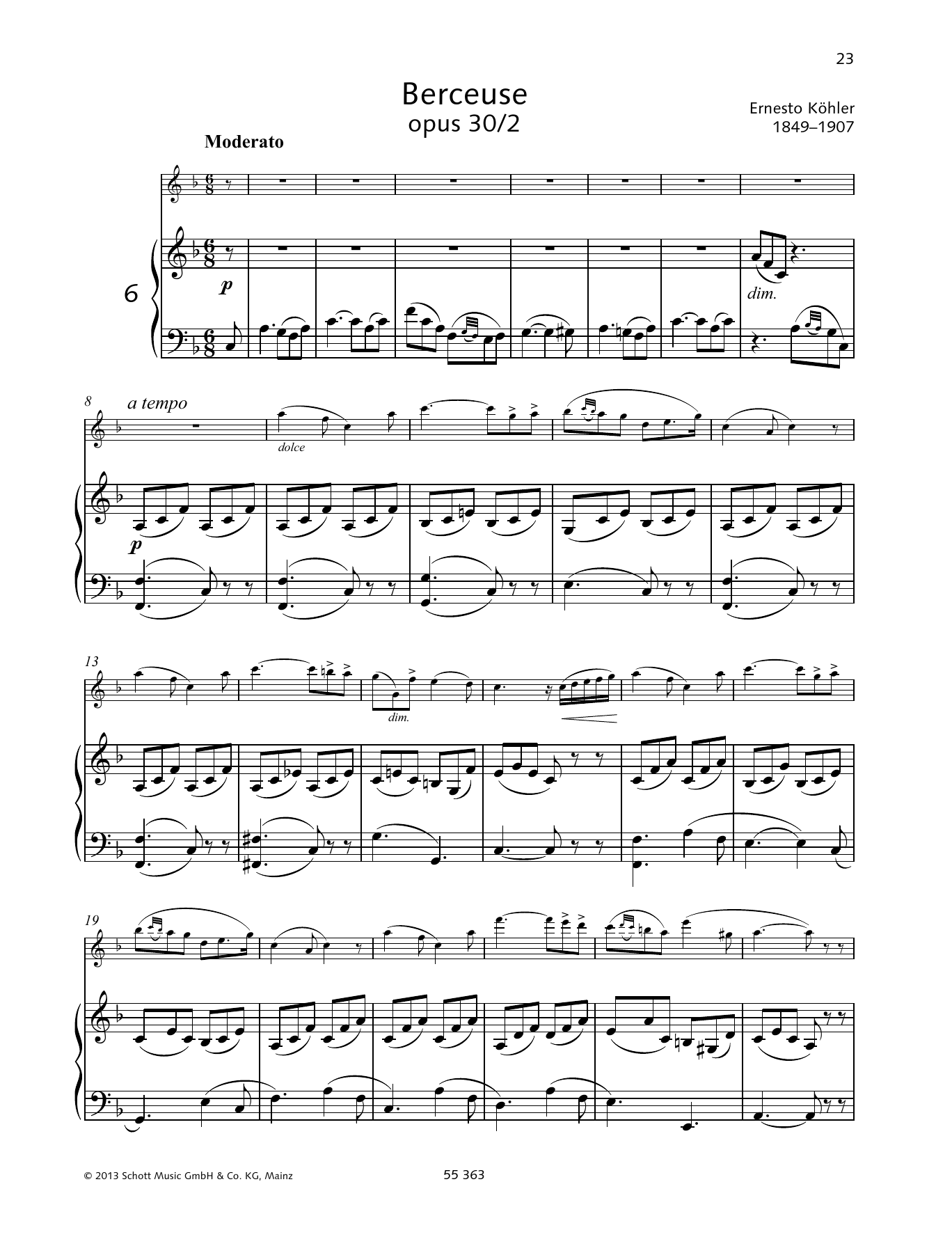 Berceuse Sheet Music