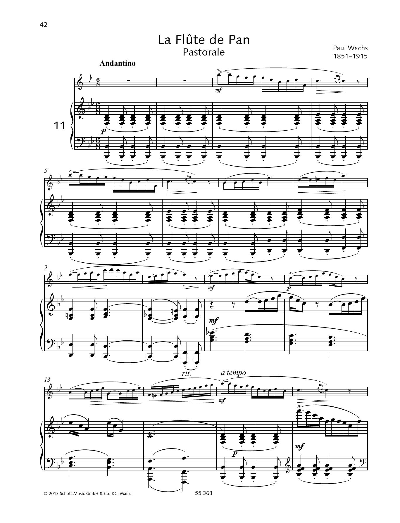 La Flute De Pan Sheet Music
