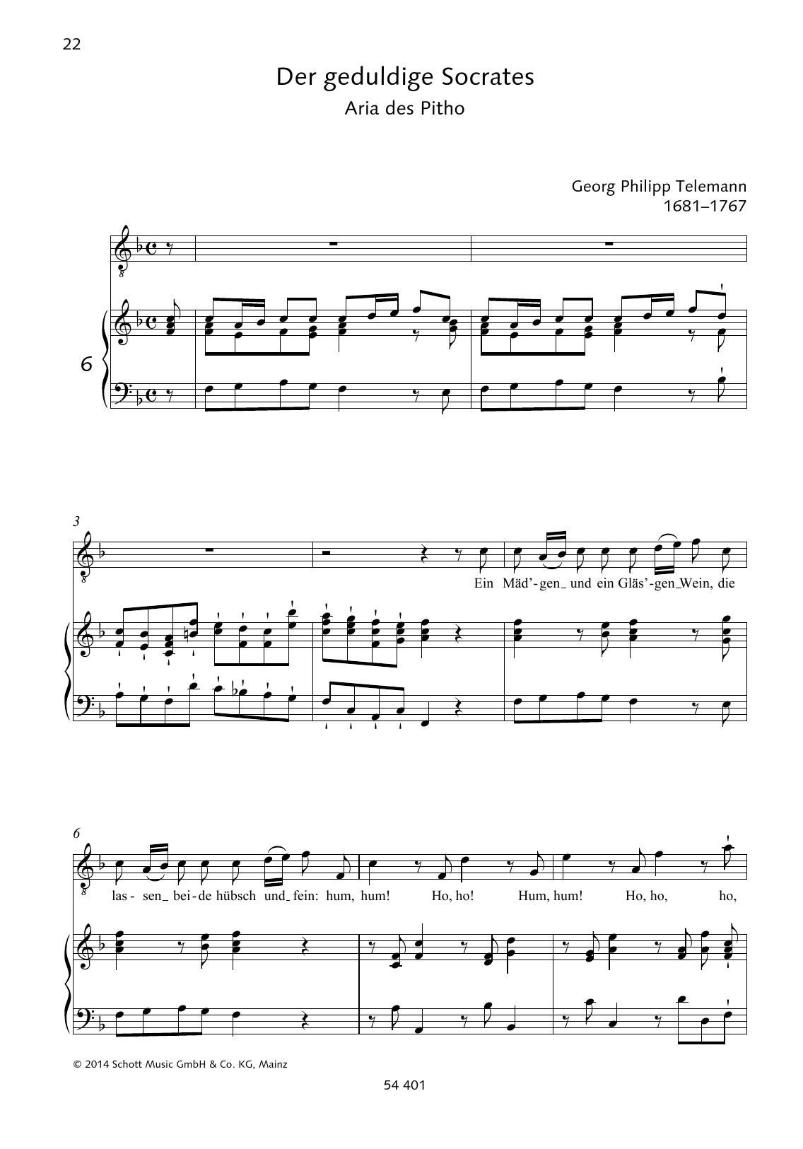 Ein Mäd'gen und ein Gläs'gen Wein Sheet Music