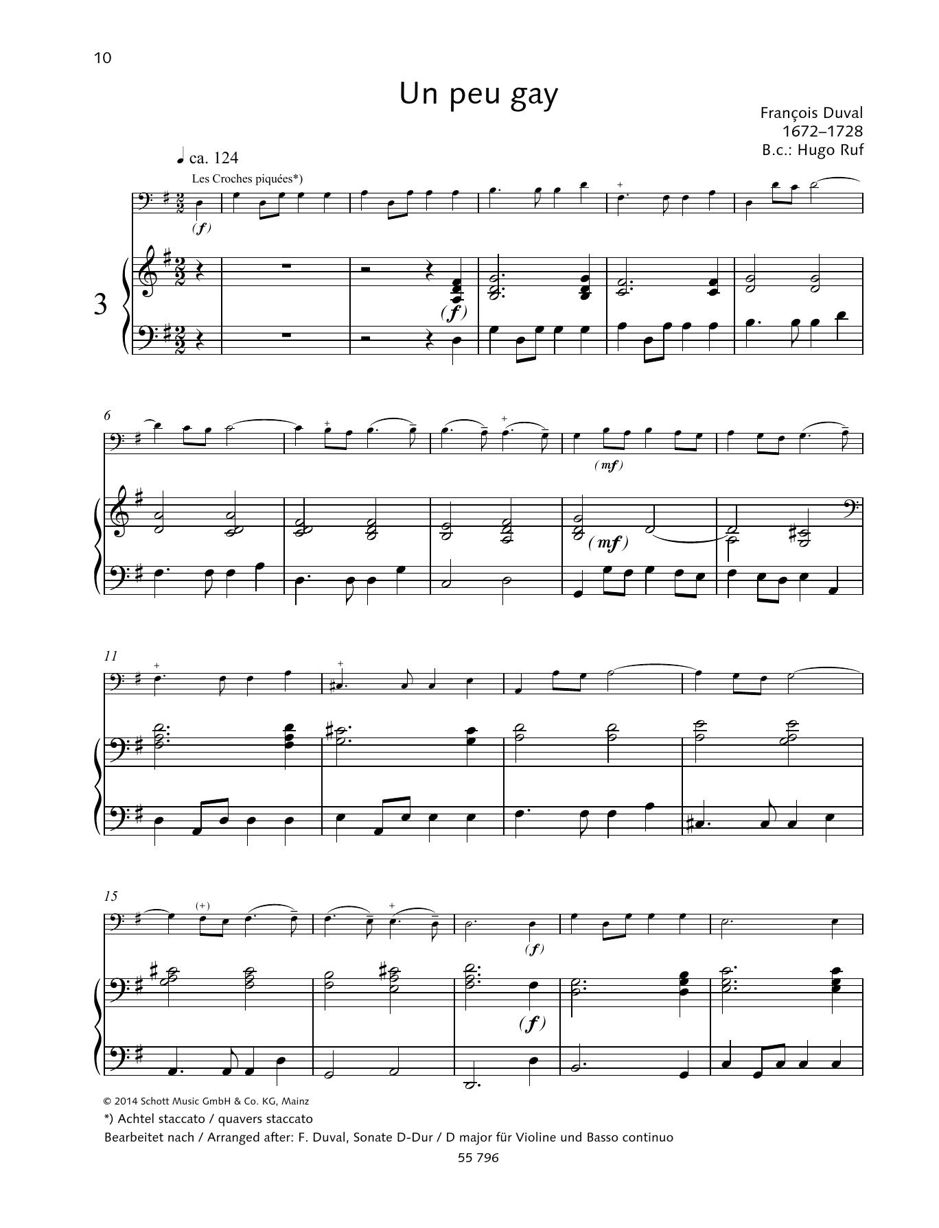 Un peu gay Sheet Music