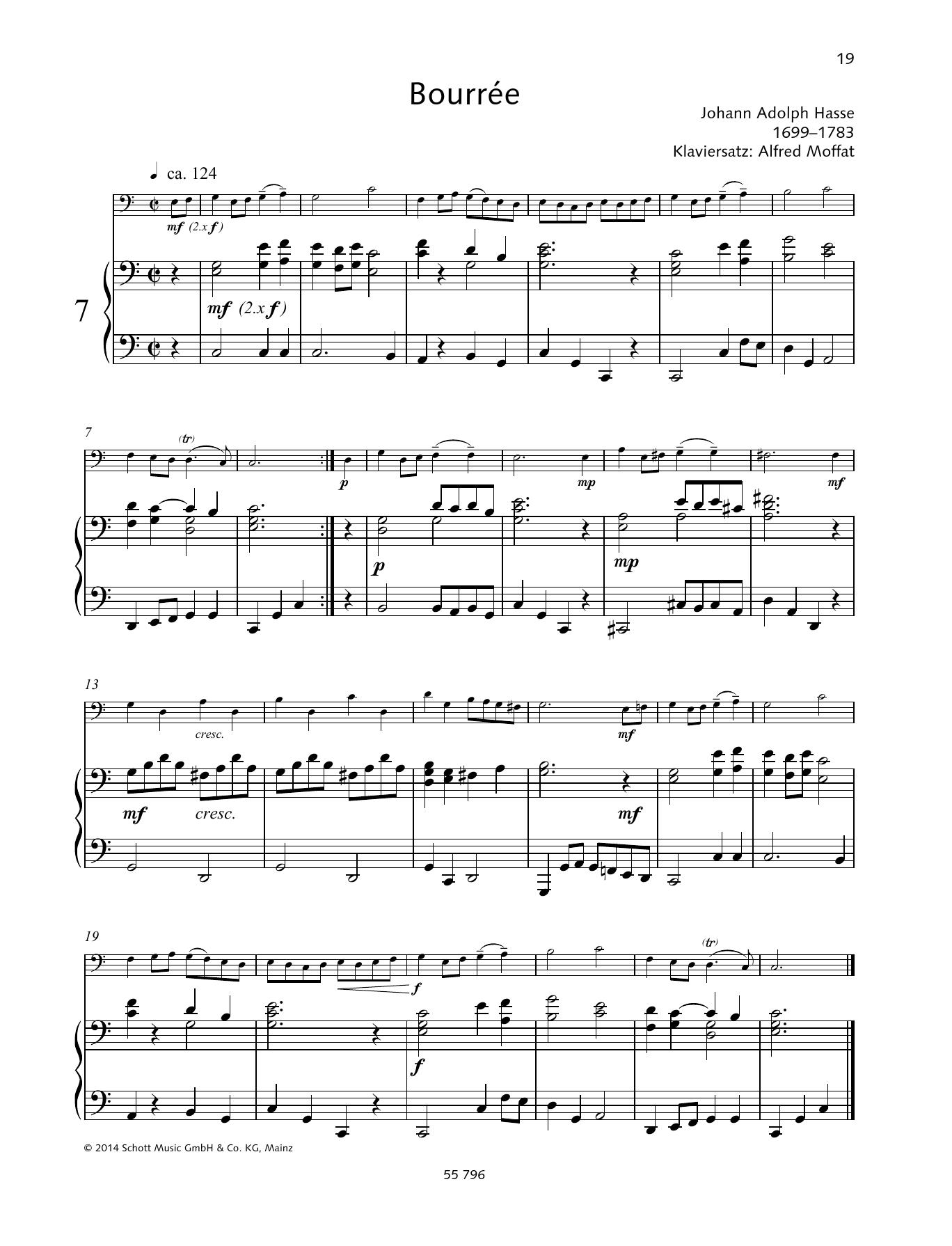 Bourree Sheet Music
