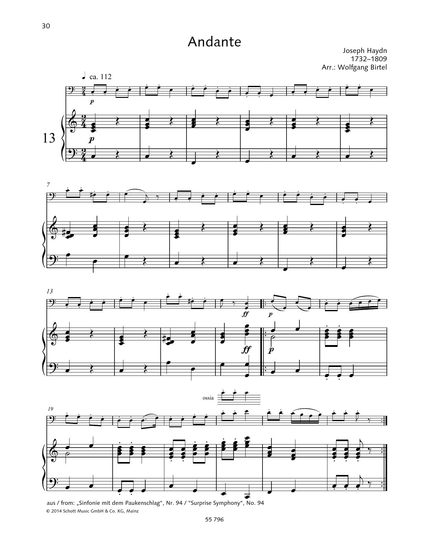 Andante Sheet Music