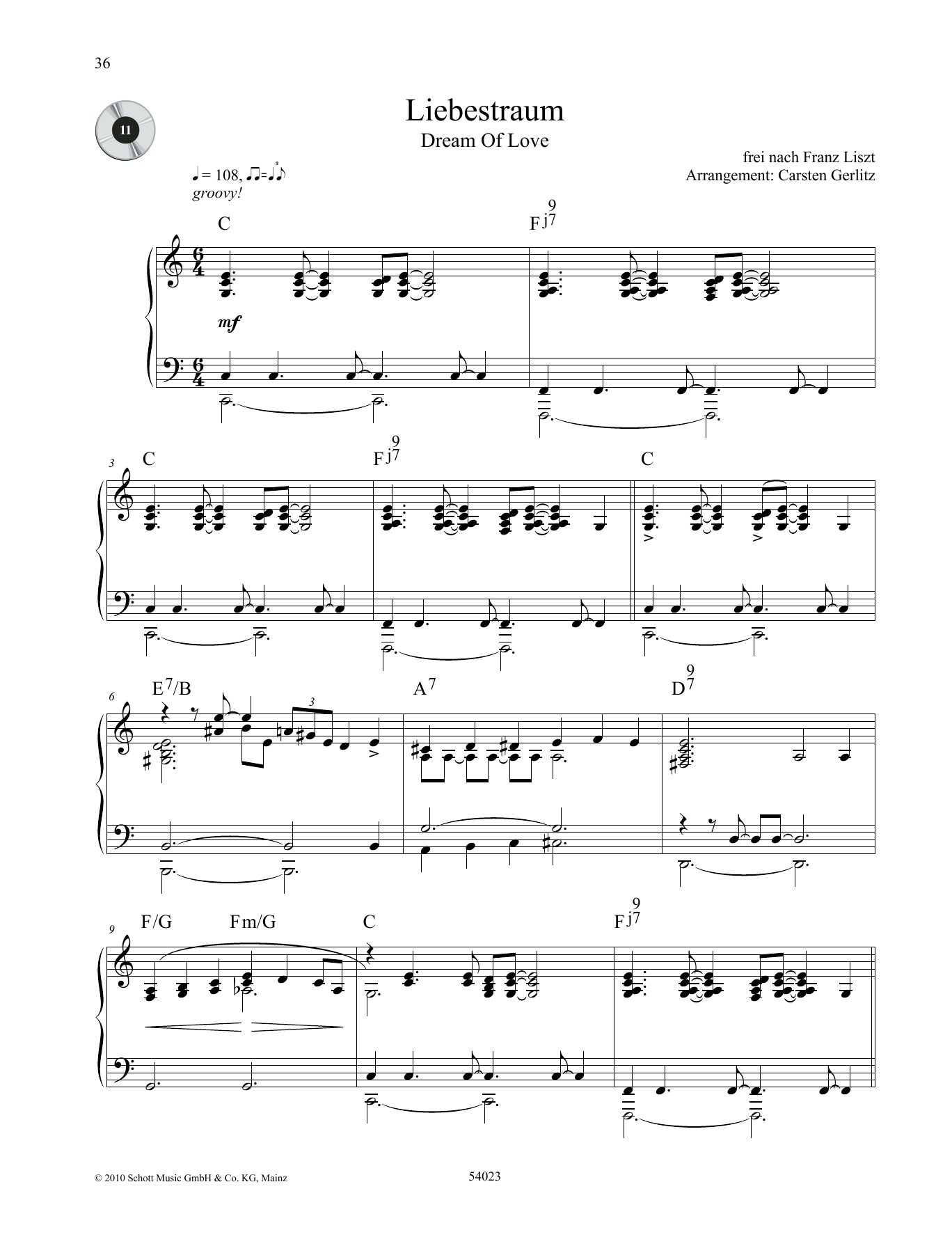 Dream of Love Sheet Music