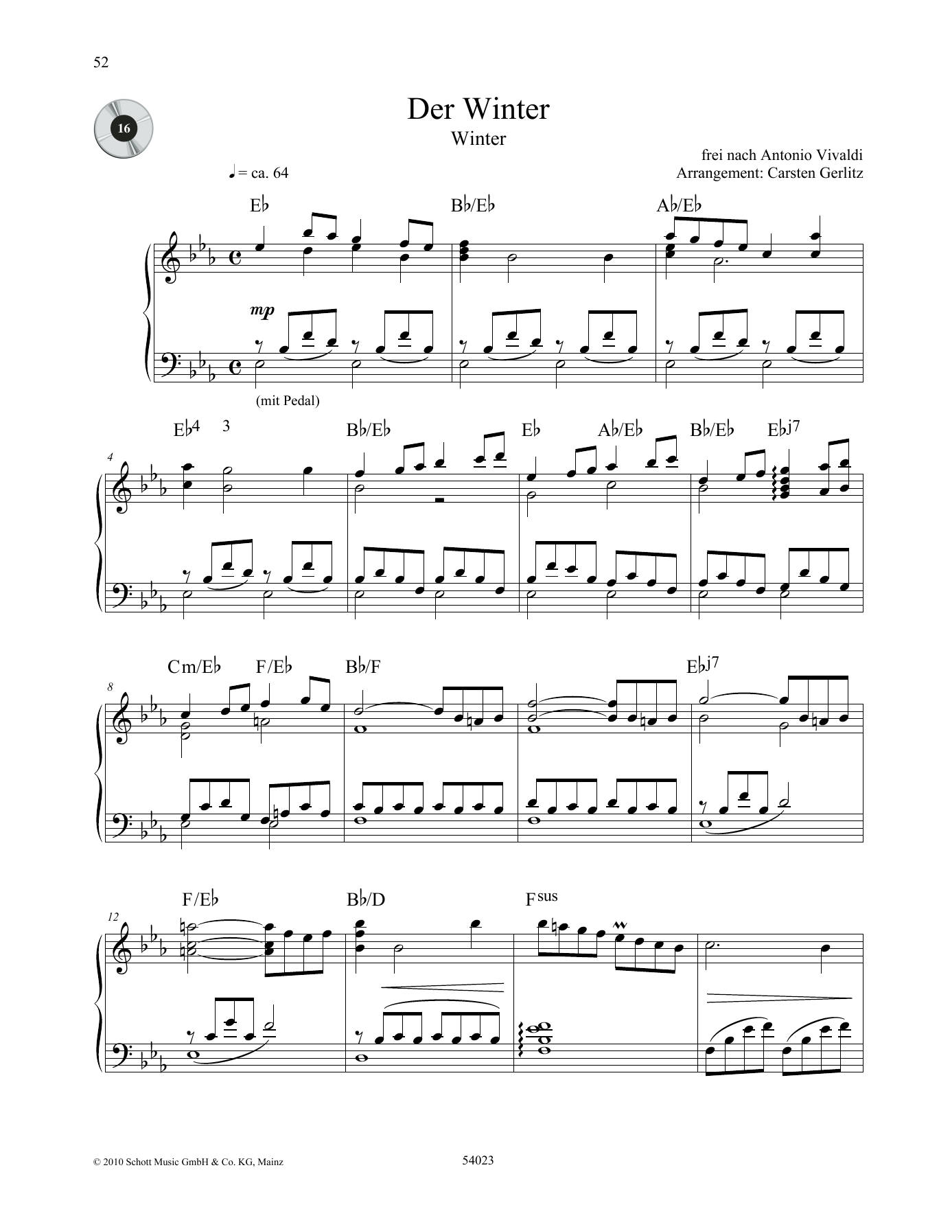 Winter Sheet Music