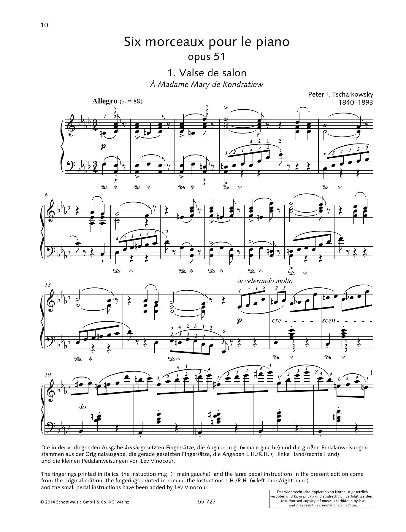 Valse de Salon Sheet Music