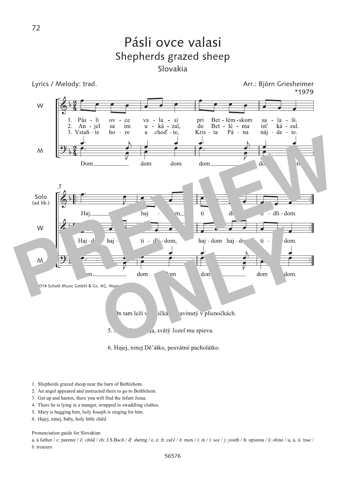 Pasli ovce valasi Sheet Music