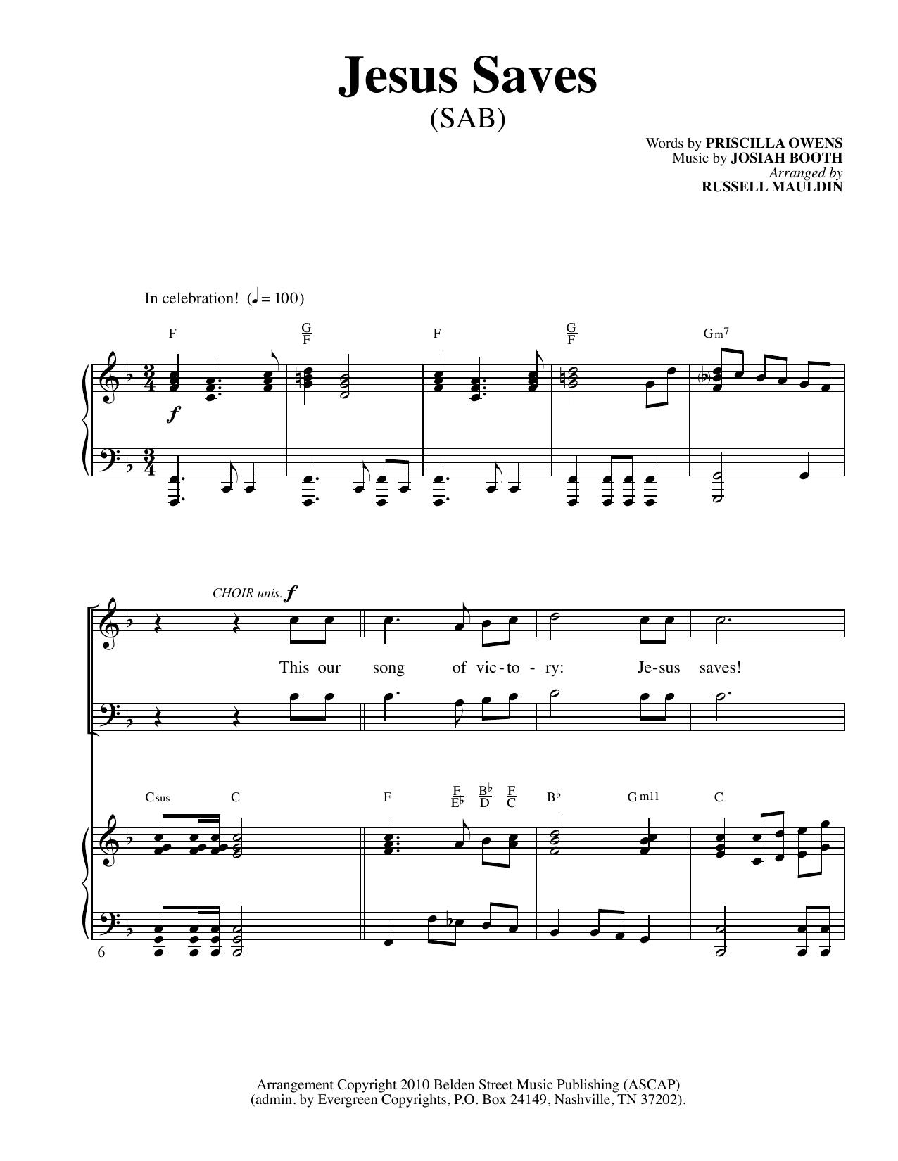 Jesus Saves (SAB Choir)