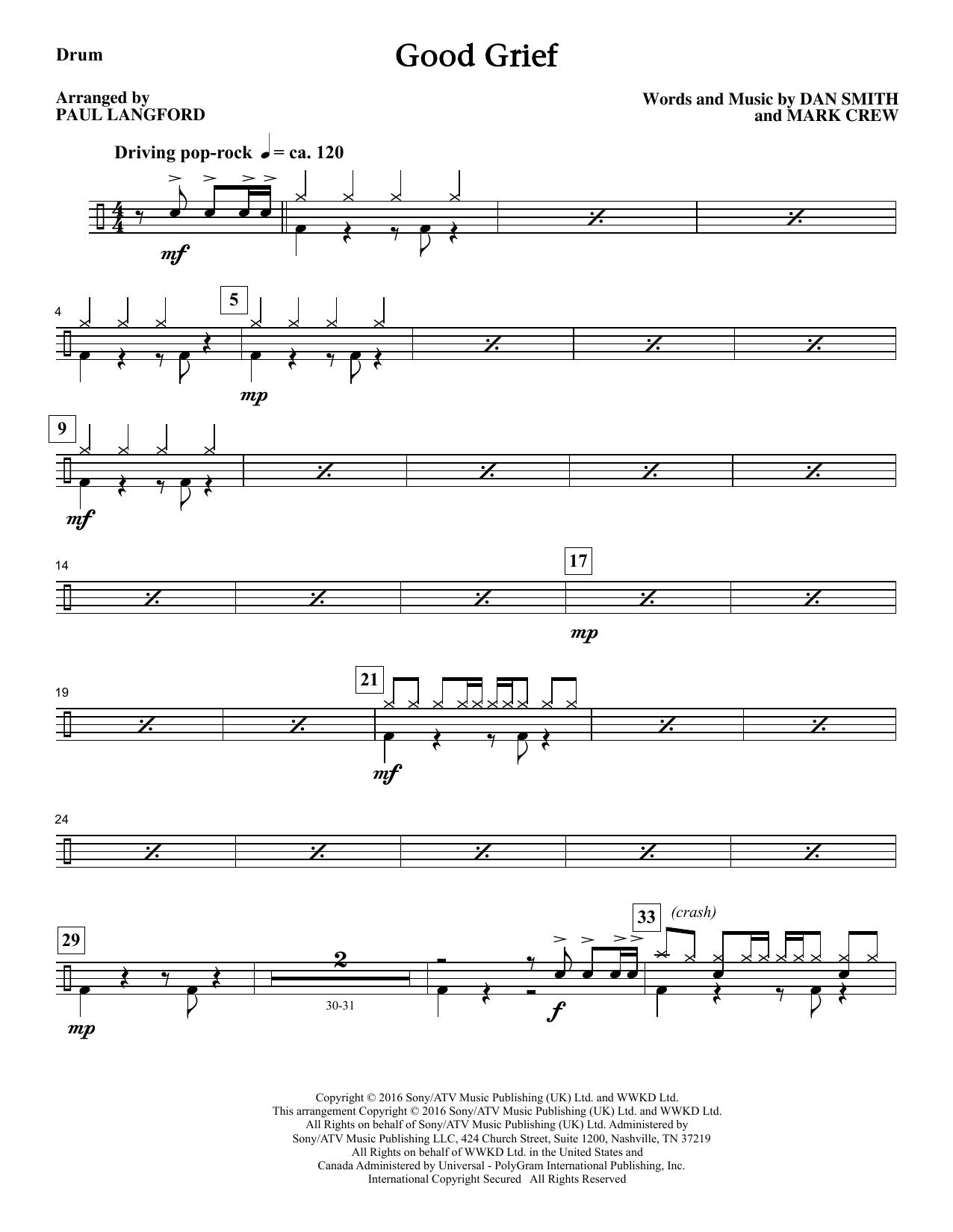 Good Grief - Drums Sheet Music
