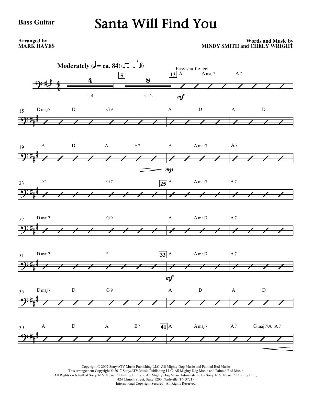 Santa Will Find You - Bass Sheet Music