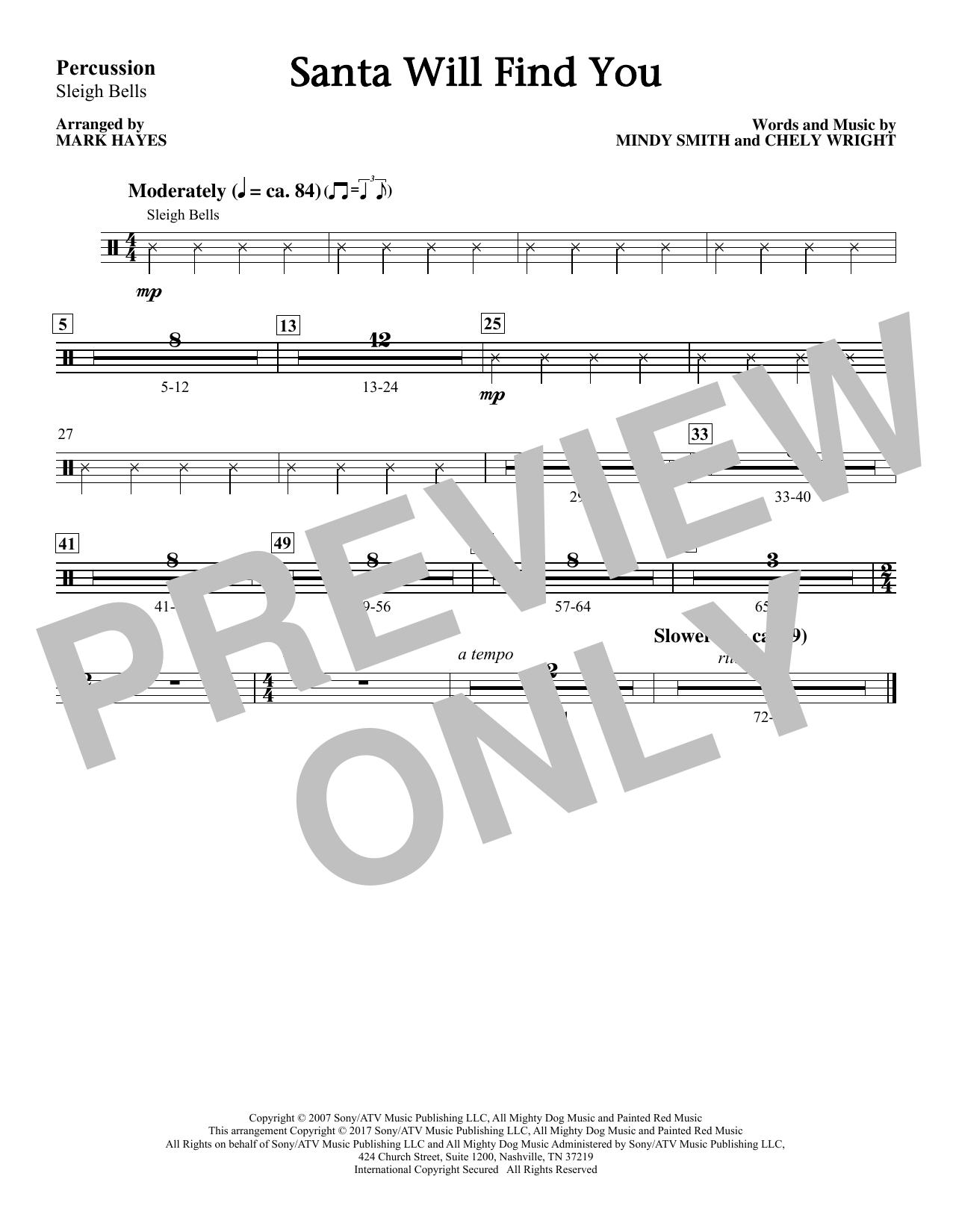 Santa Will Find You - Sleigh Bells (Choir Instrumental Pak)