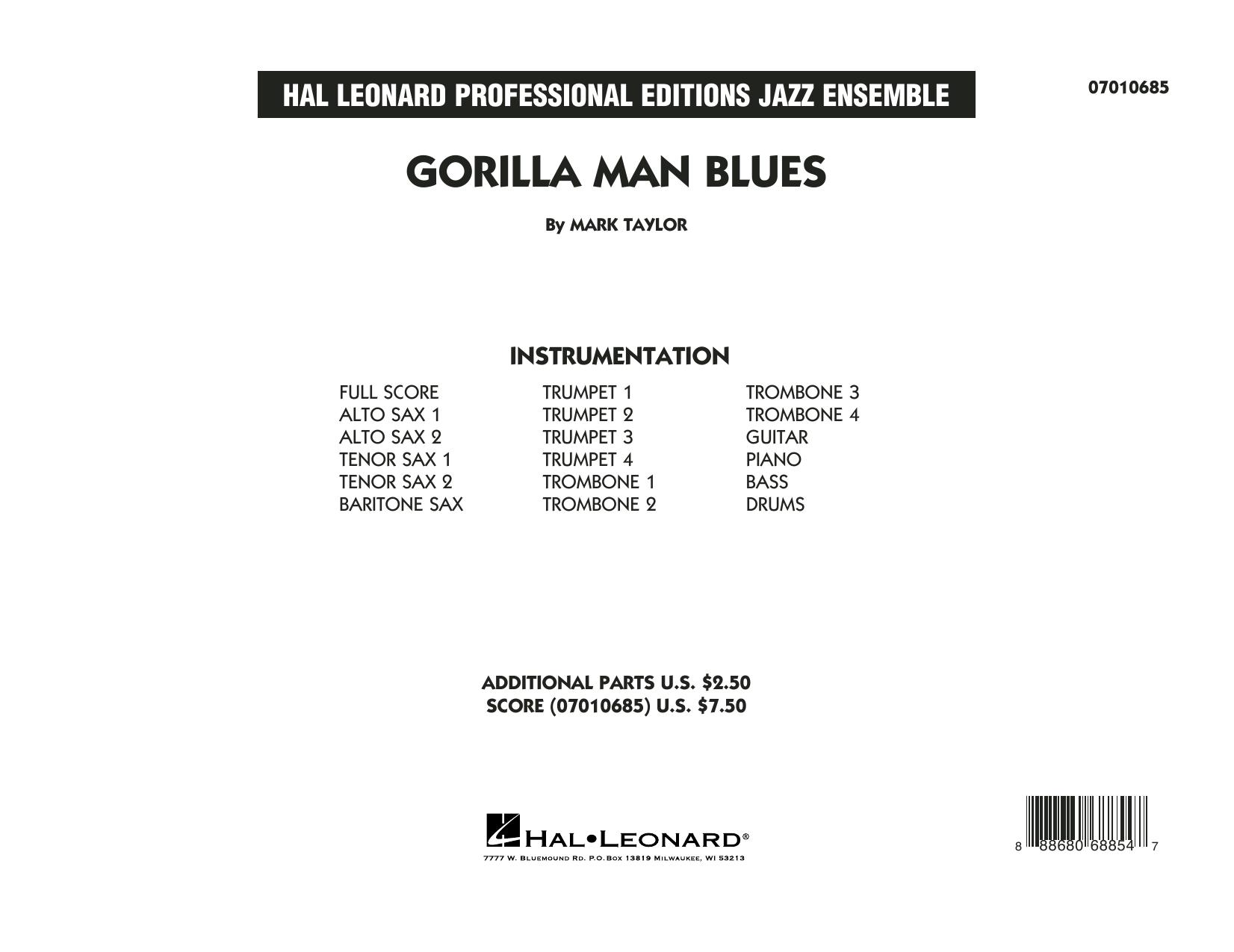 Gorilla Man Blues - Conductor Score (Full Score) Sheet Music