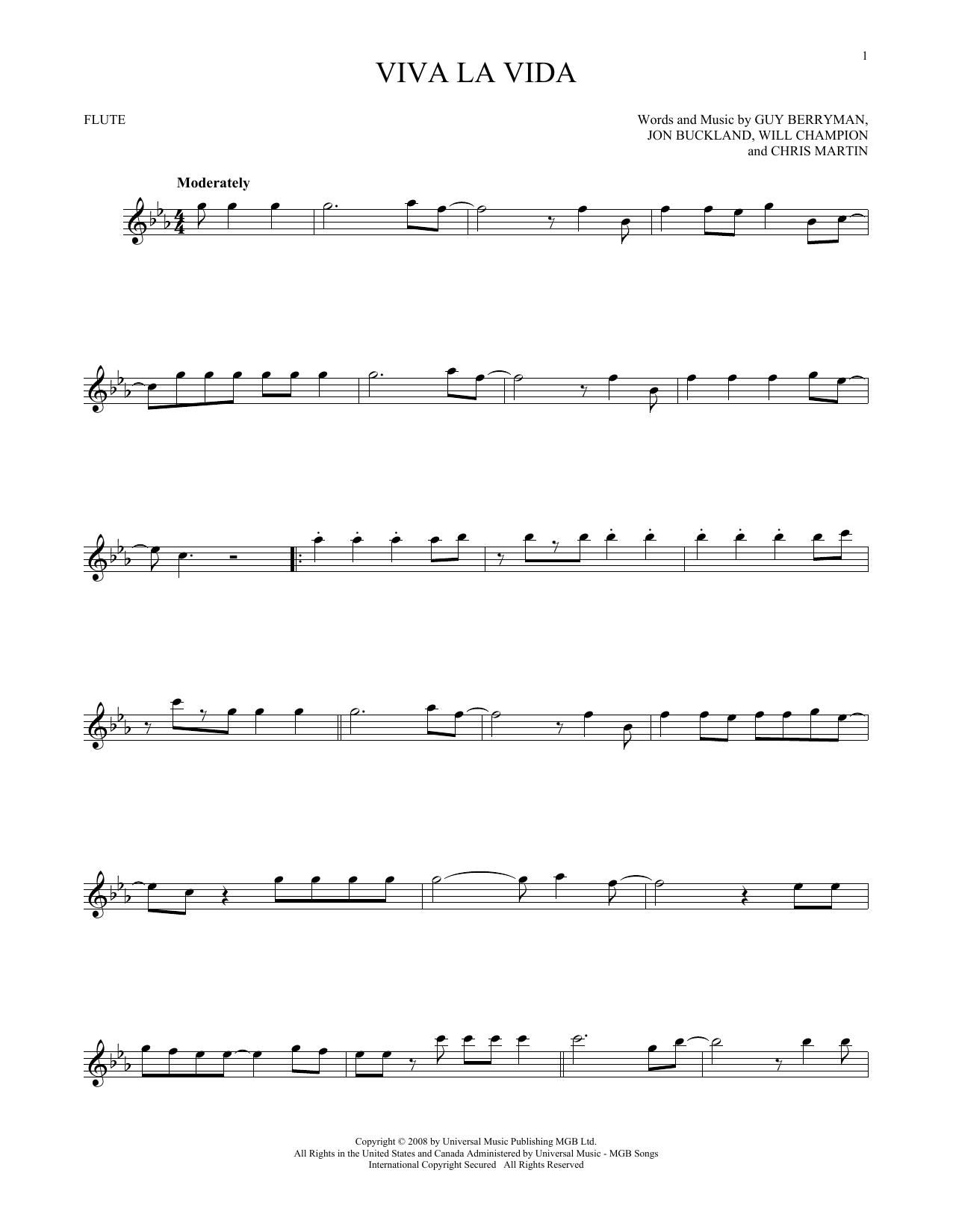 Viva La Vida (Flute Solo)