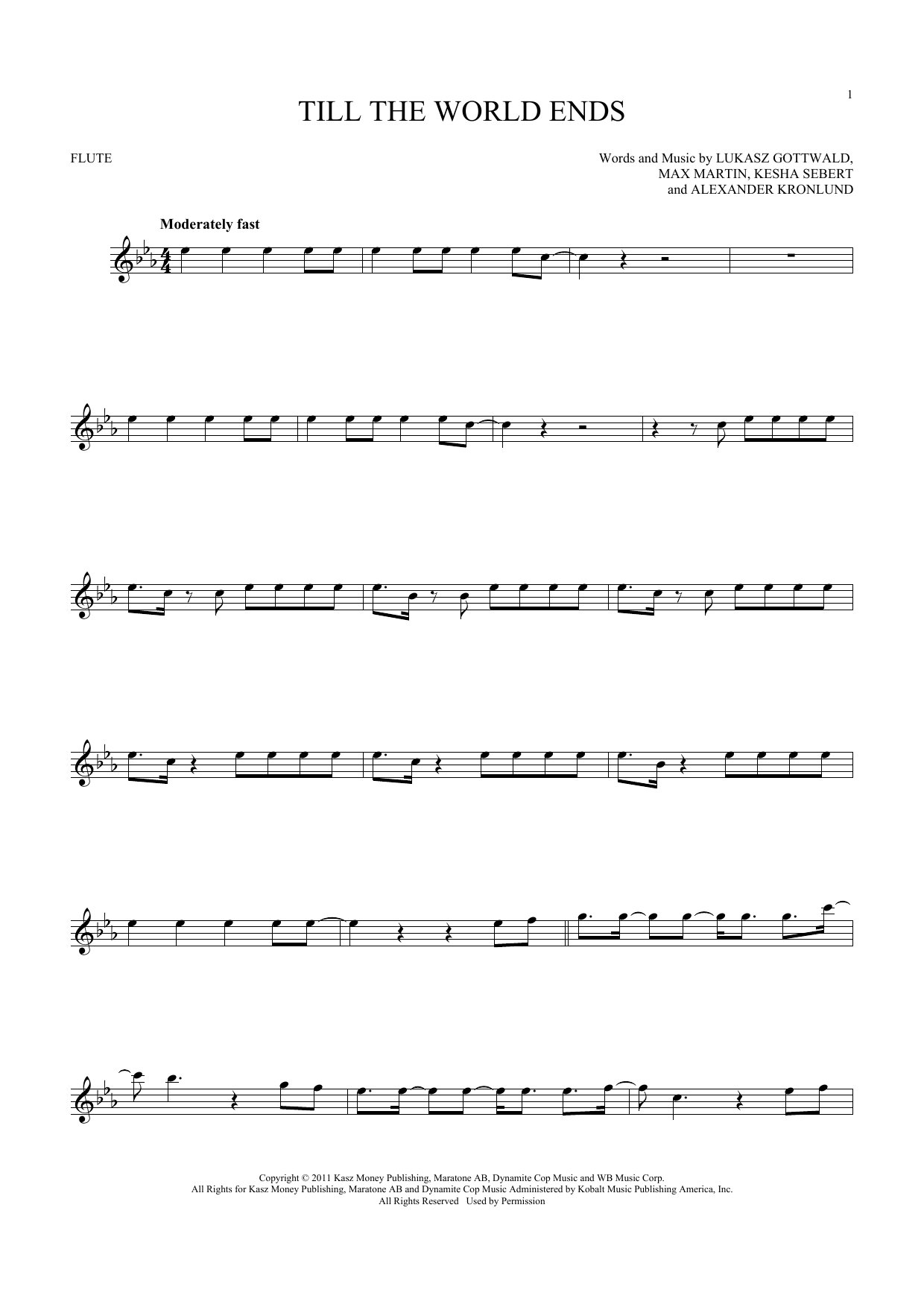 Till The World Ends (Flute Solo)