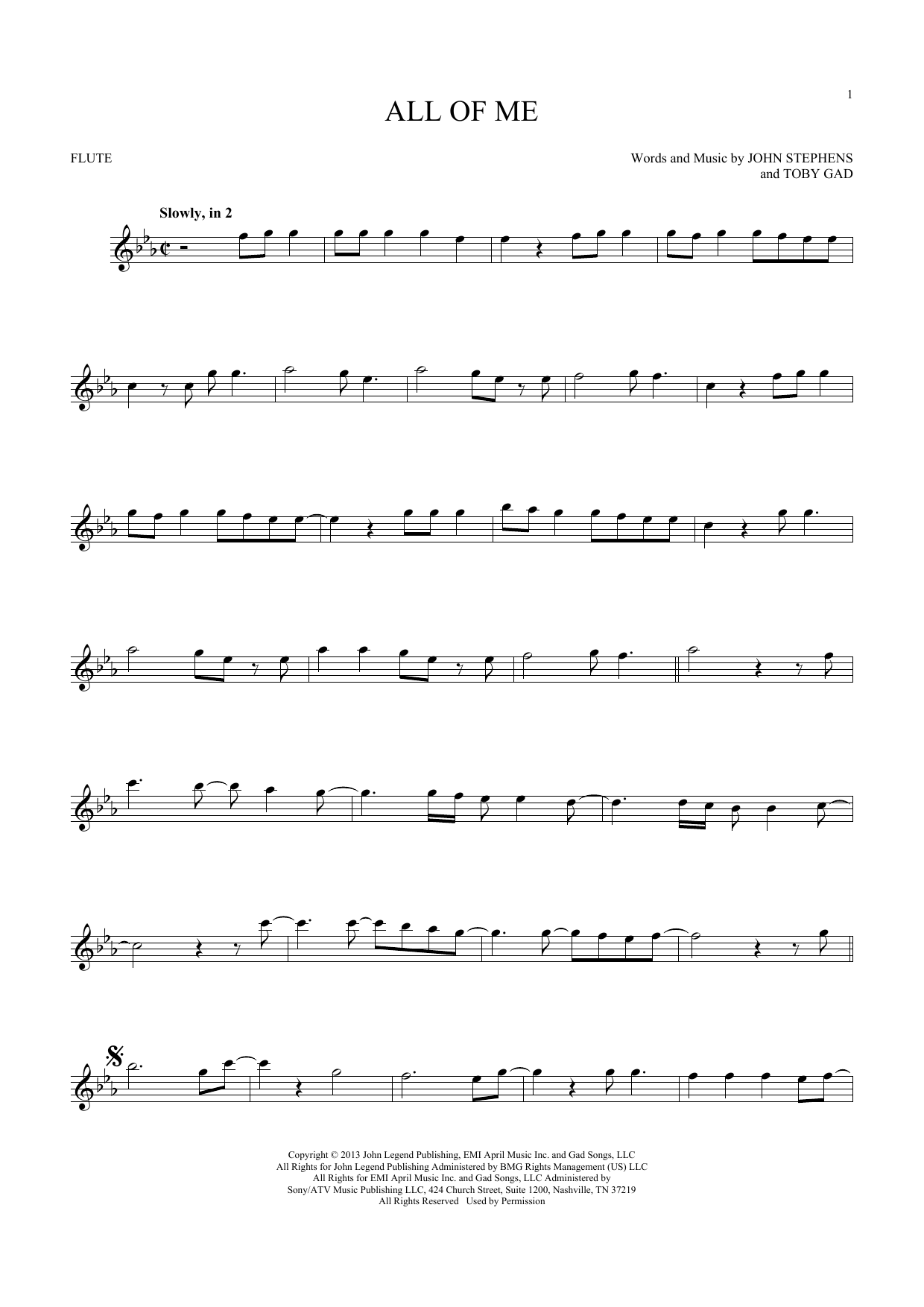 All Of Me (Flute Solo)