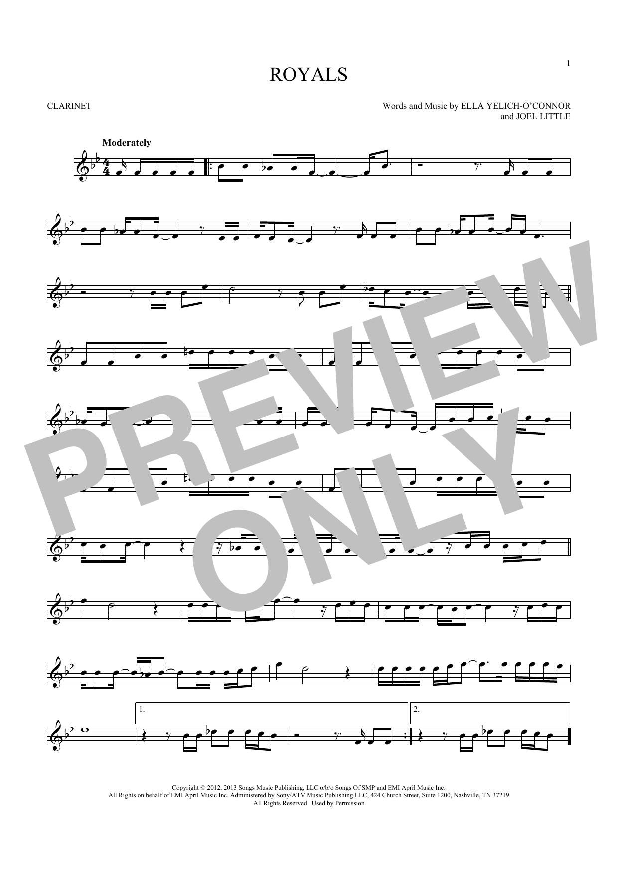 Royals (Clarinet)