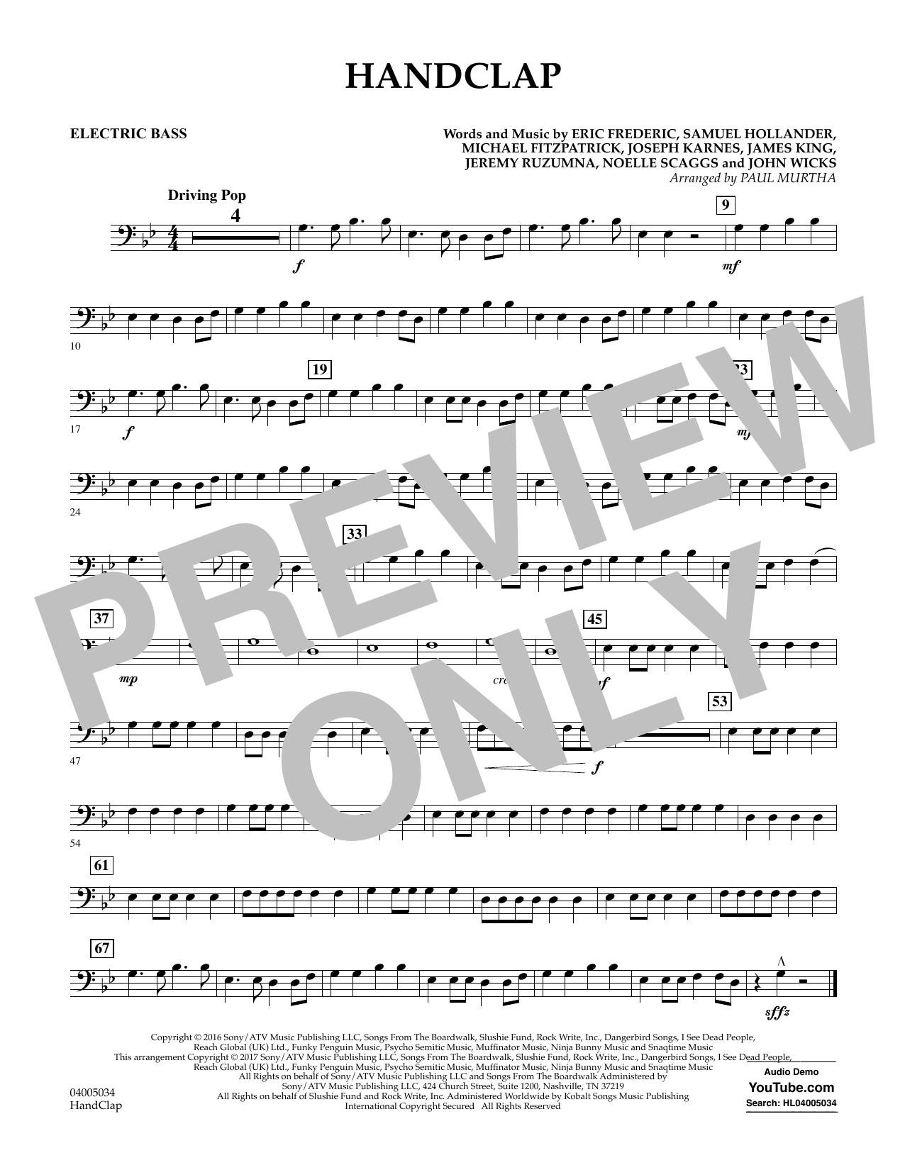 HandClap - Bass Sheet Music