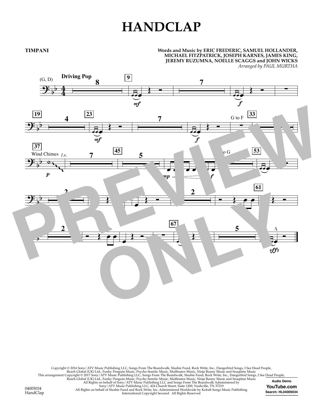 HandClap - Timpani Sheet Music