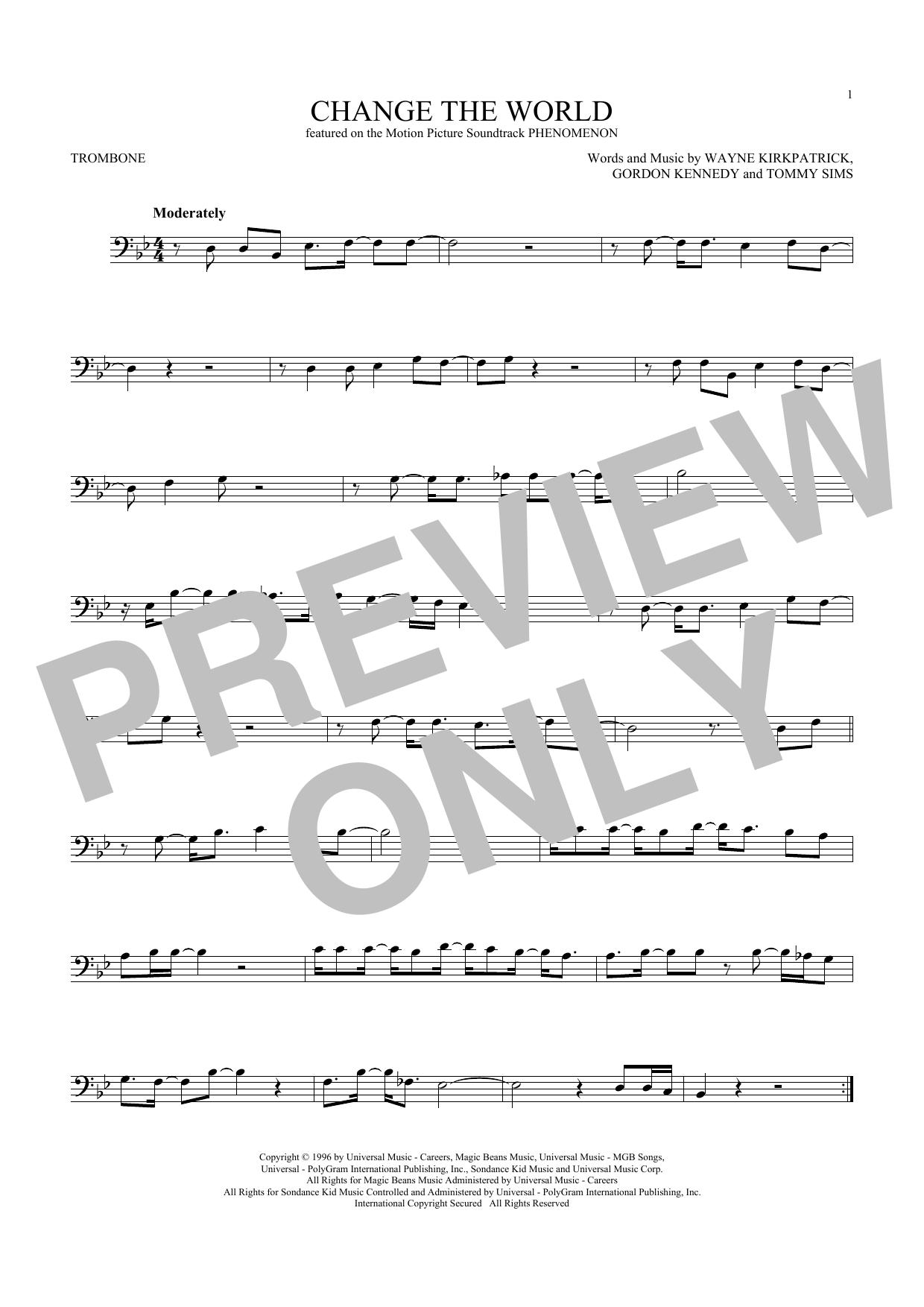 Change The World (Trombone Solo)
