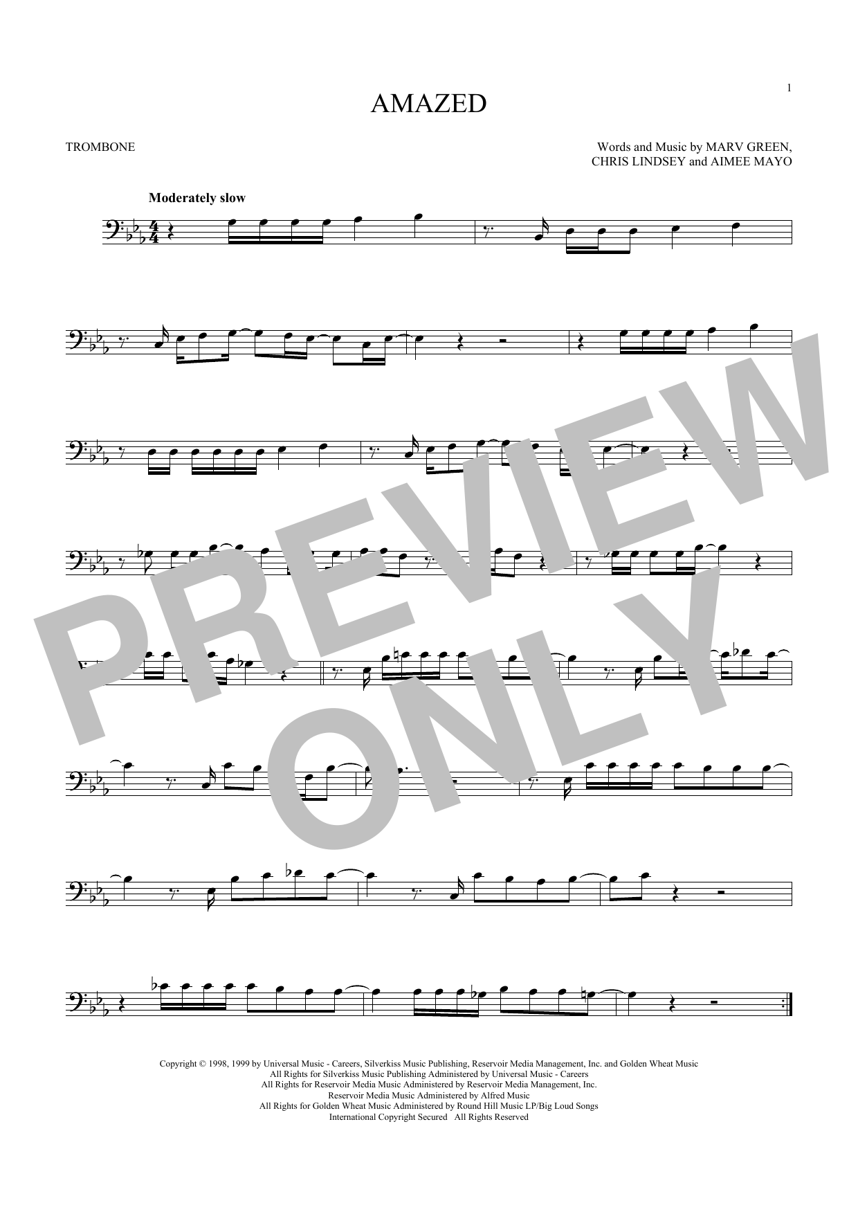 Amazed (Trombone Solo)