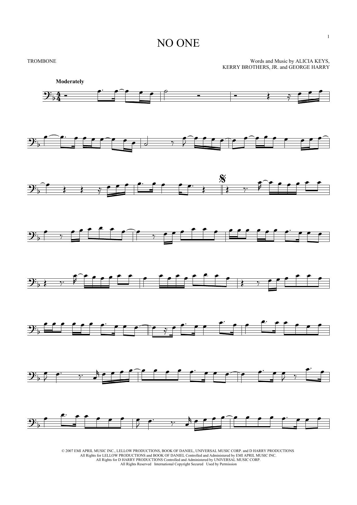 No One (Trombone Solo)