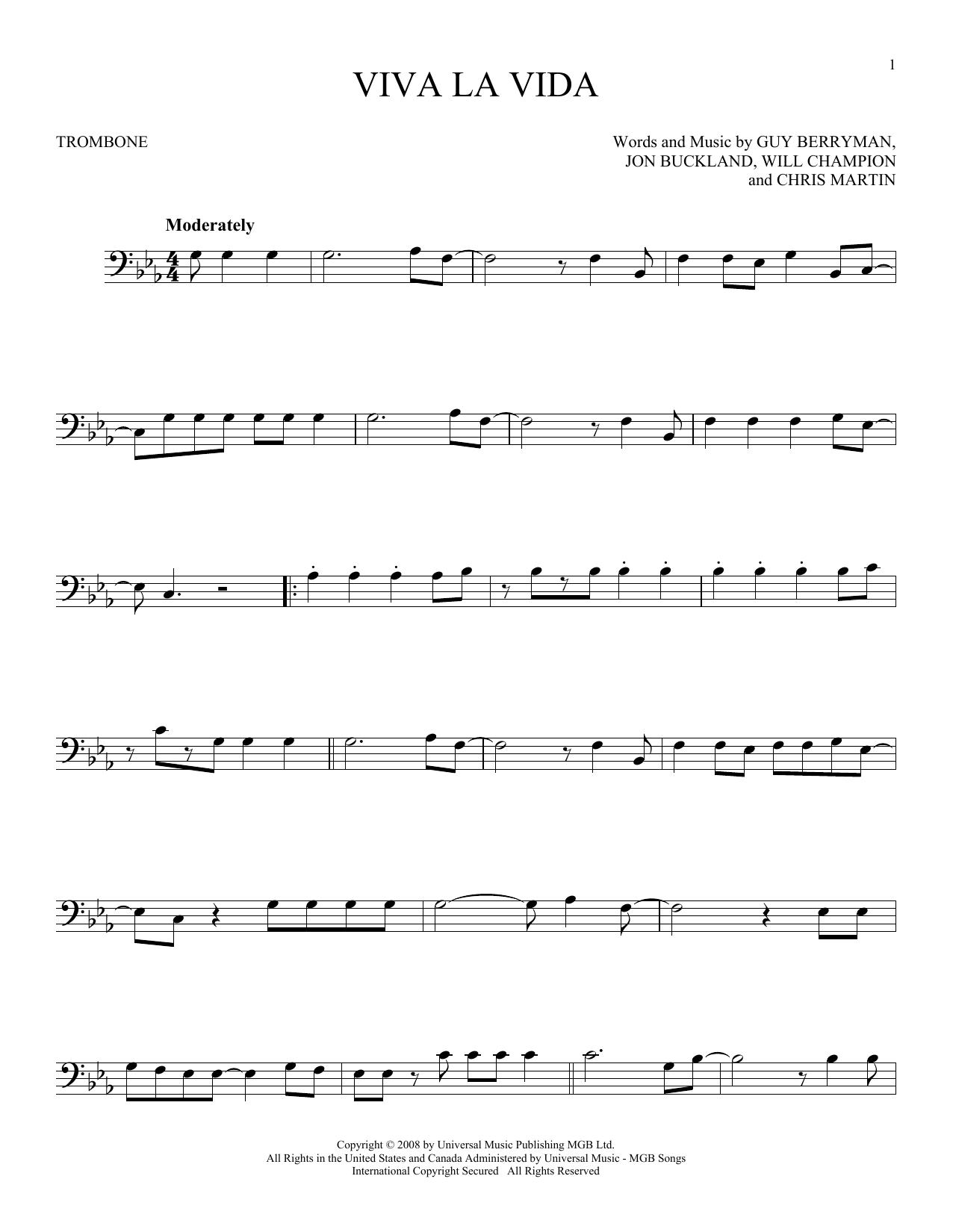 Viva La Vida (Trombone Solo)