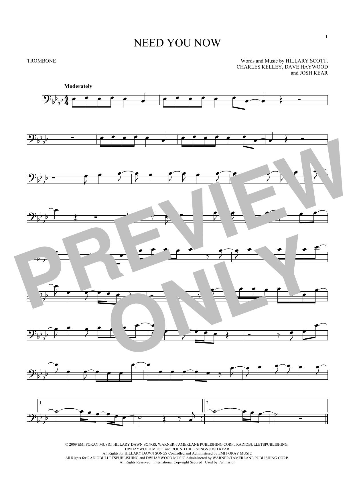 Need You Now (Trombone Solo)