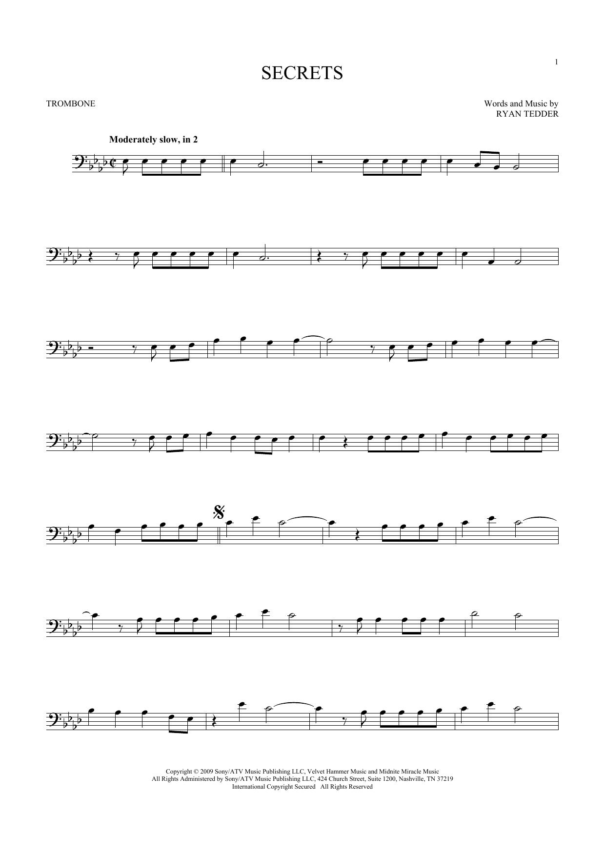 Secrets (Trombone Solo)