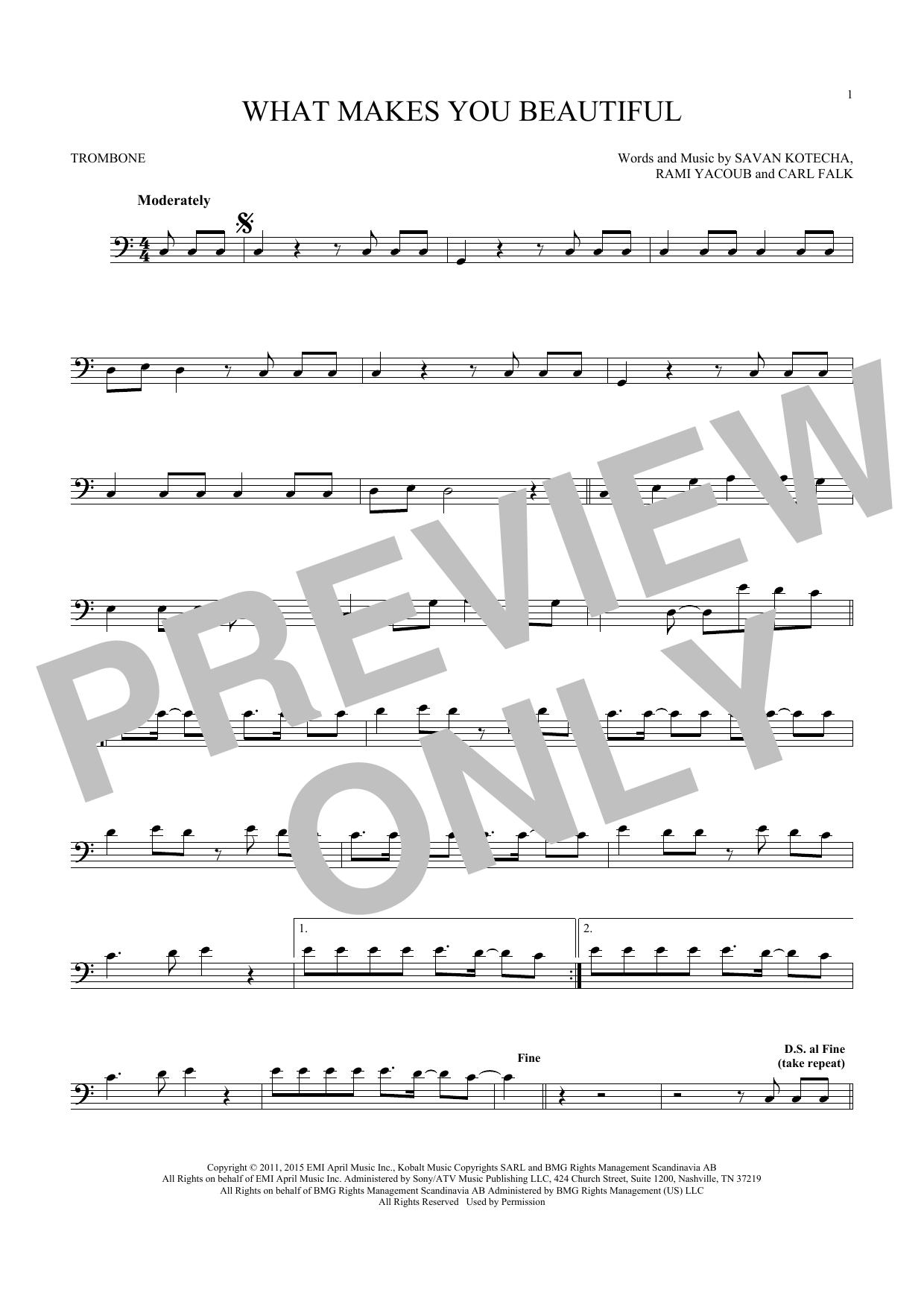 What Makes You Beautiful (Trombone)