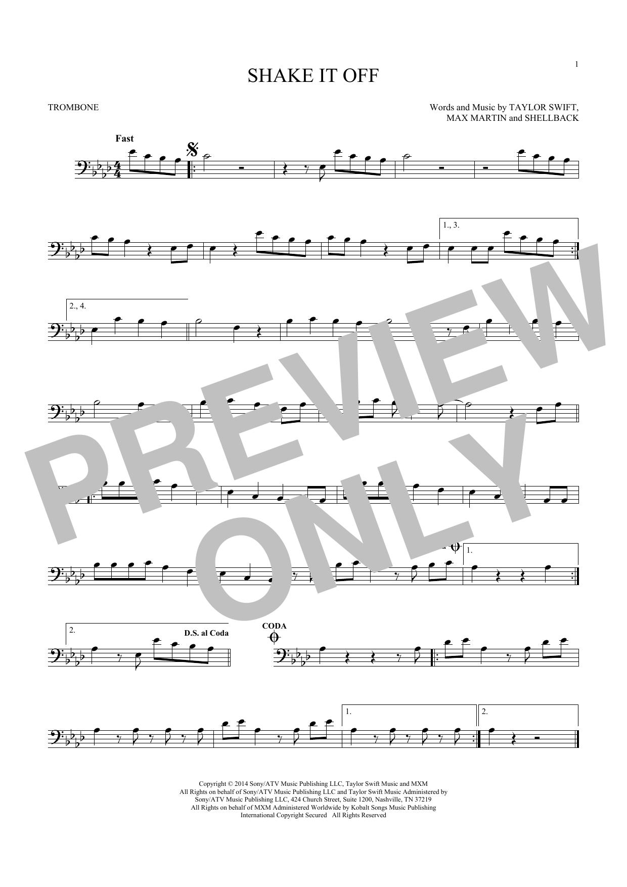 Shake It Off (Trombone Solo)