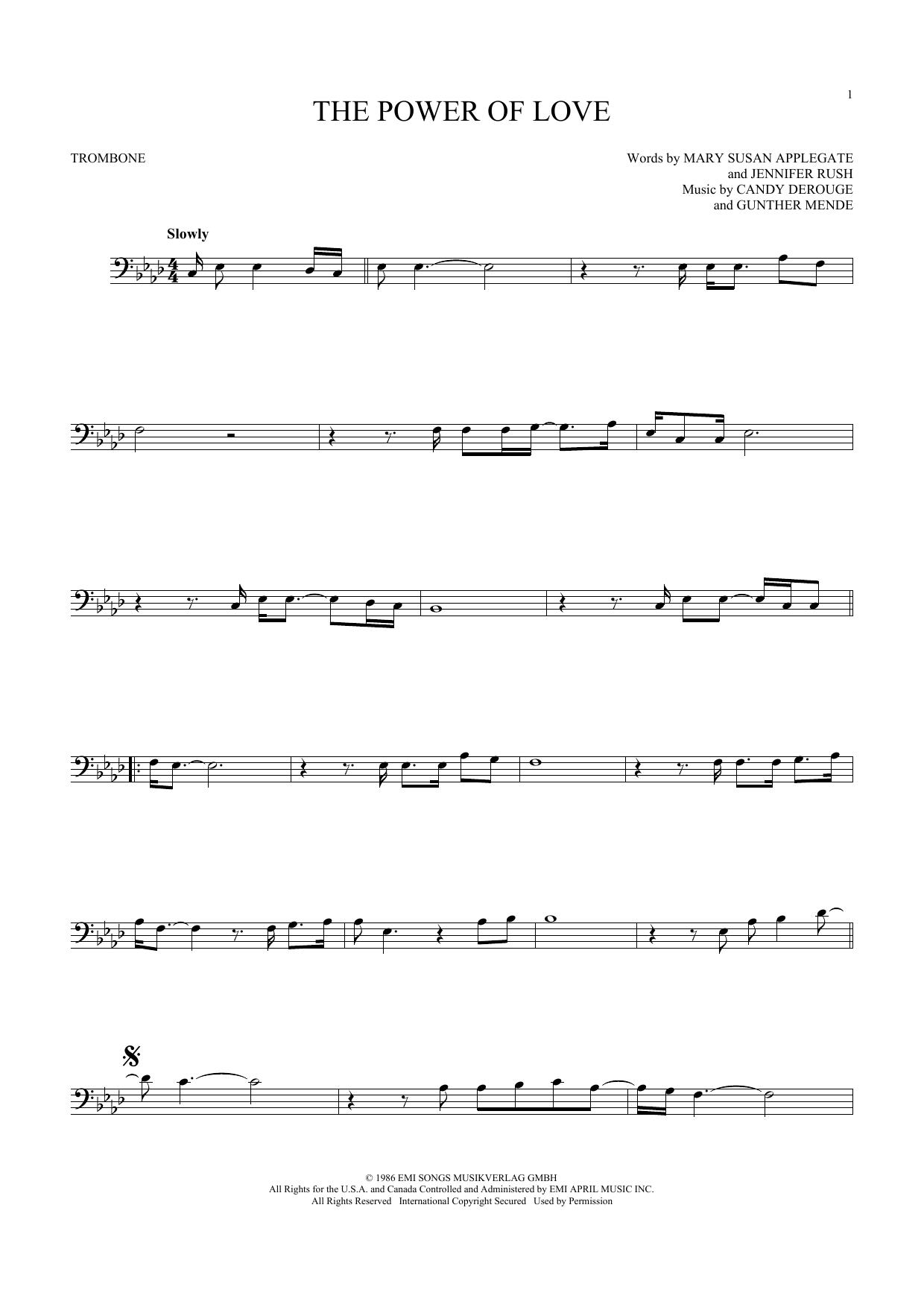 The Power Of Love (Trombone Solo)