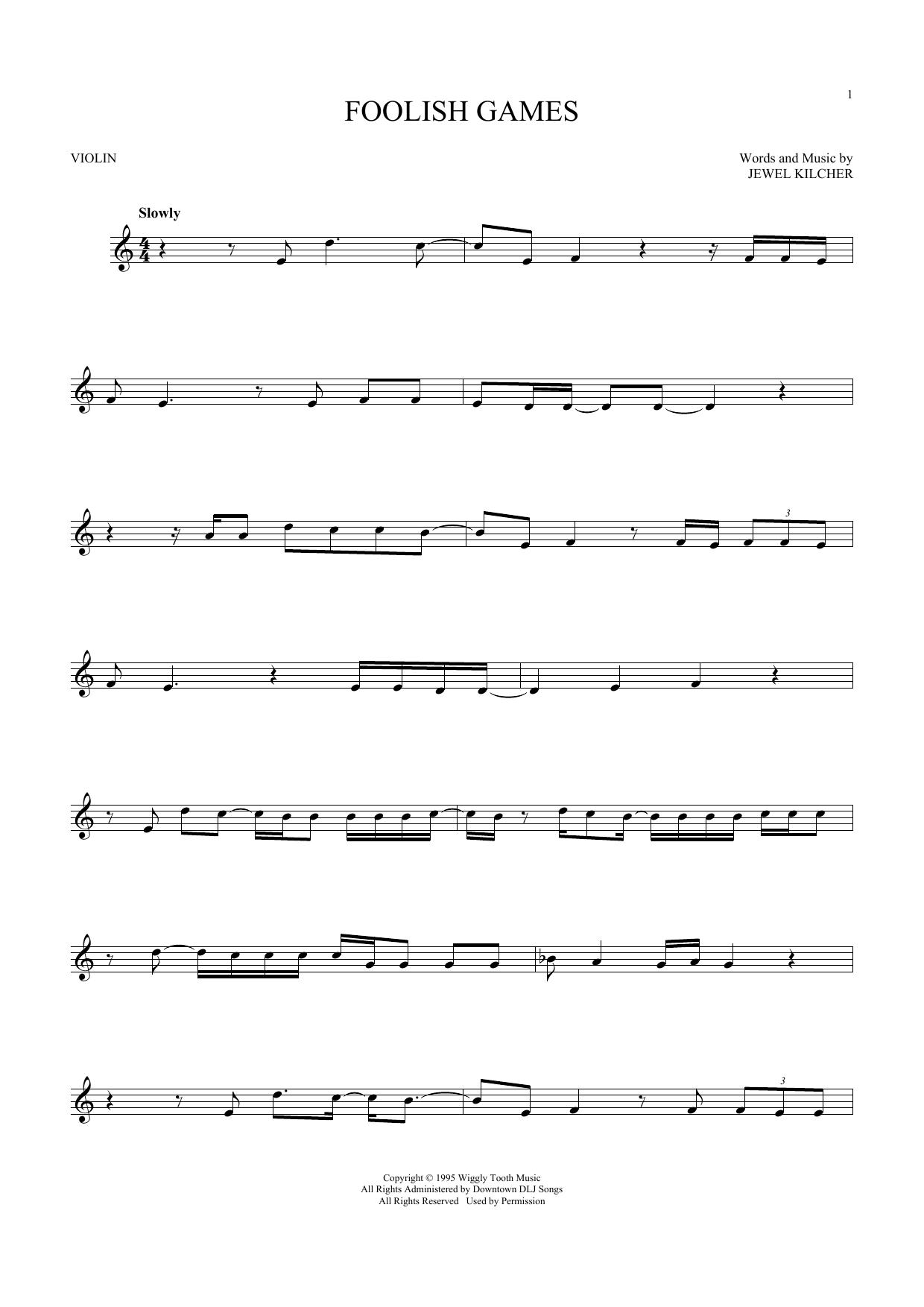 Foolish Games (Violin Solo)