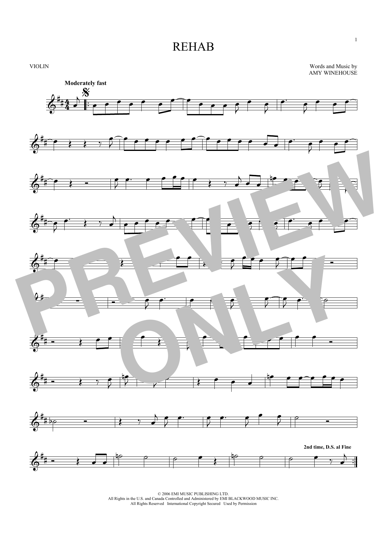 Rehab (Violin Solo)