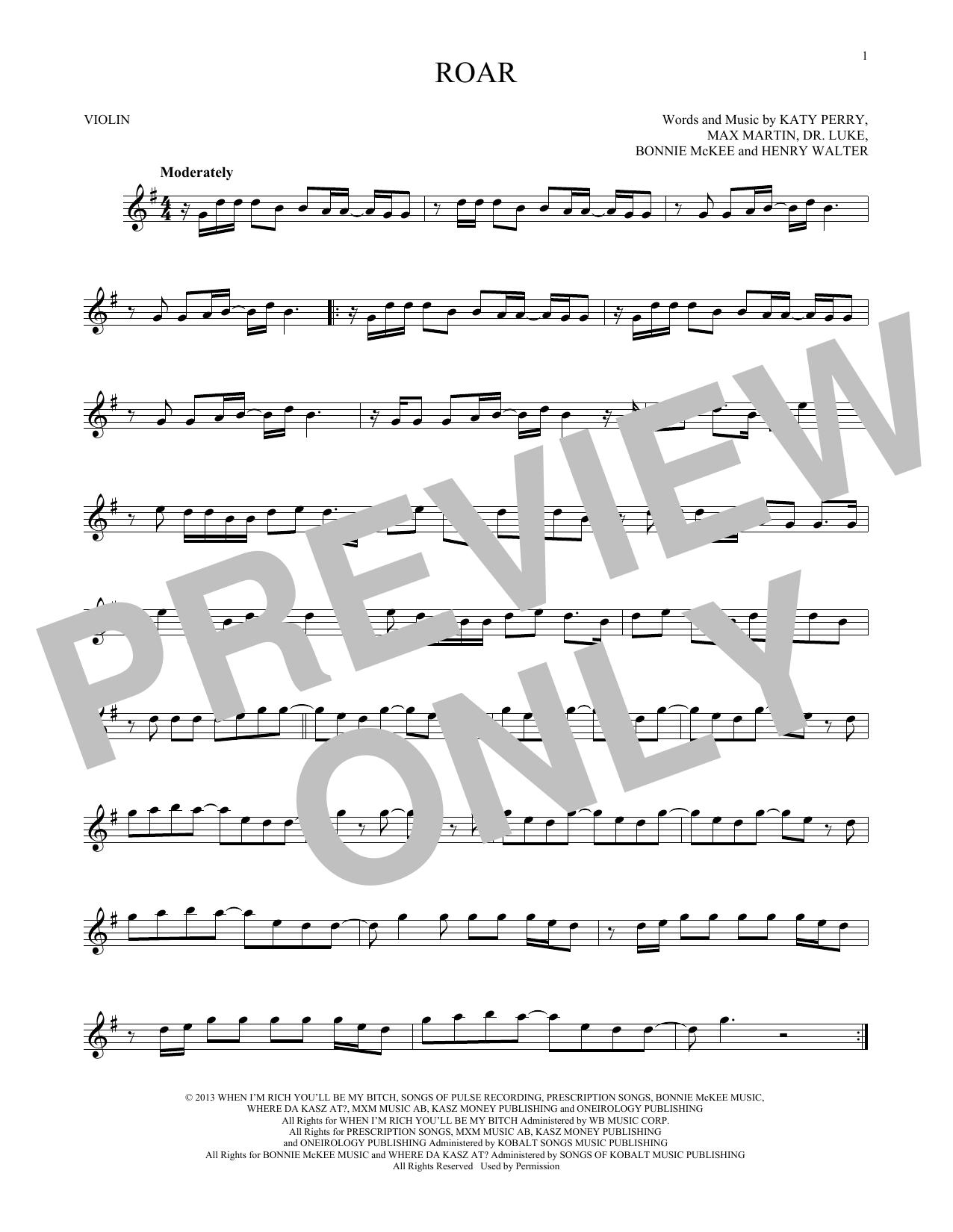 Roar (Violin)