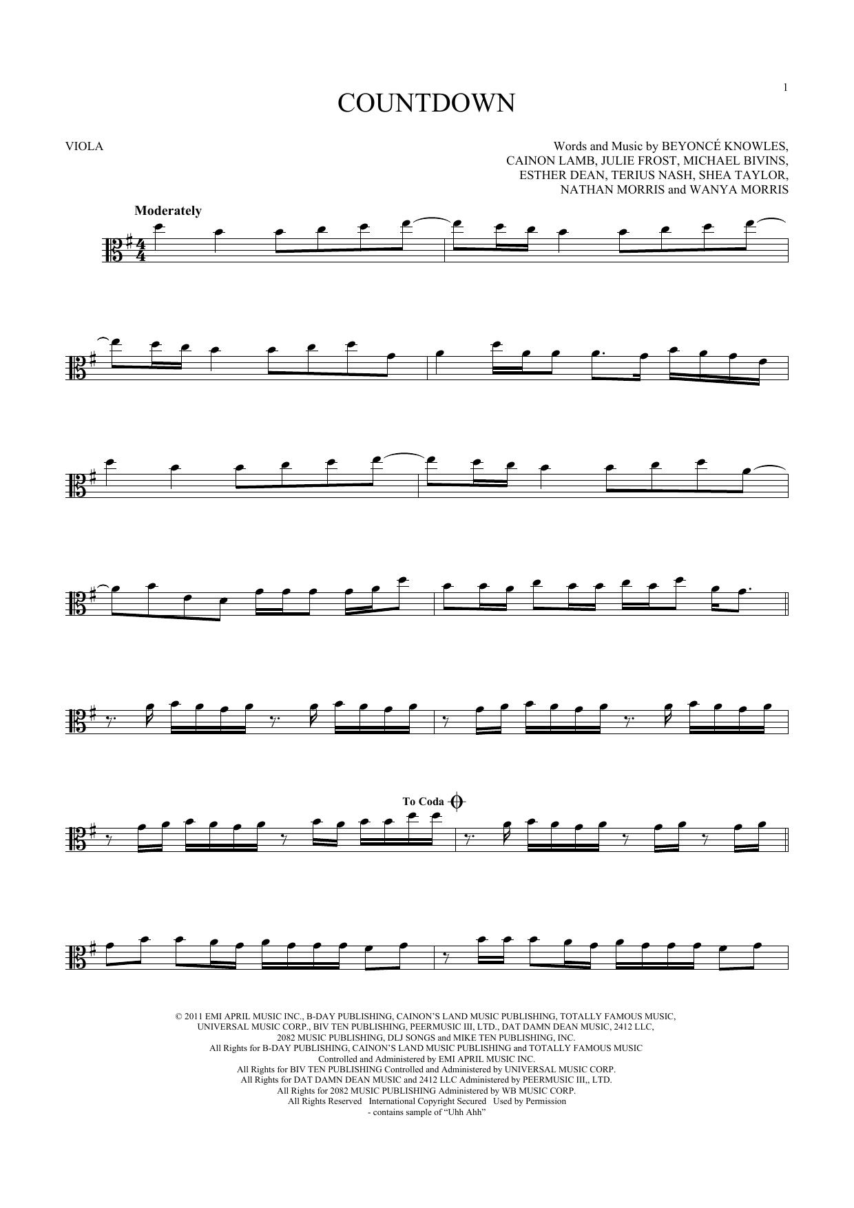 Countdown (Viola Solo)
