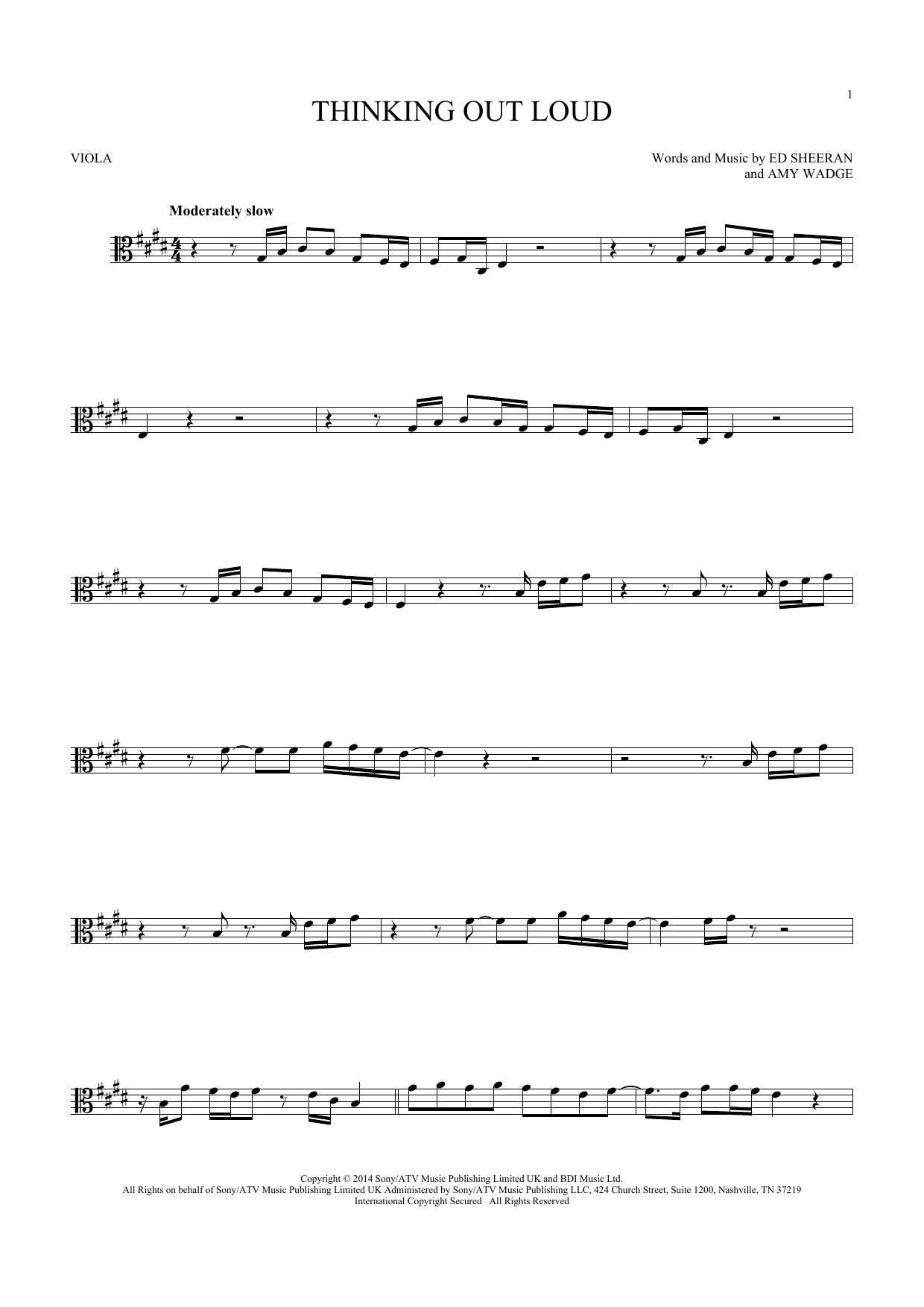 Thinking Out Loud (Viola Solo)
