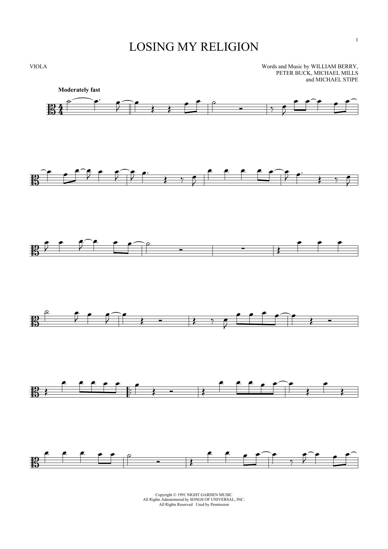 Losing My Religion (Viola Solo)