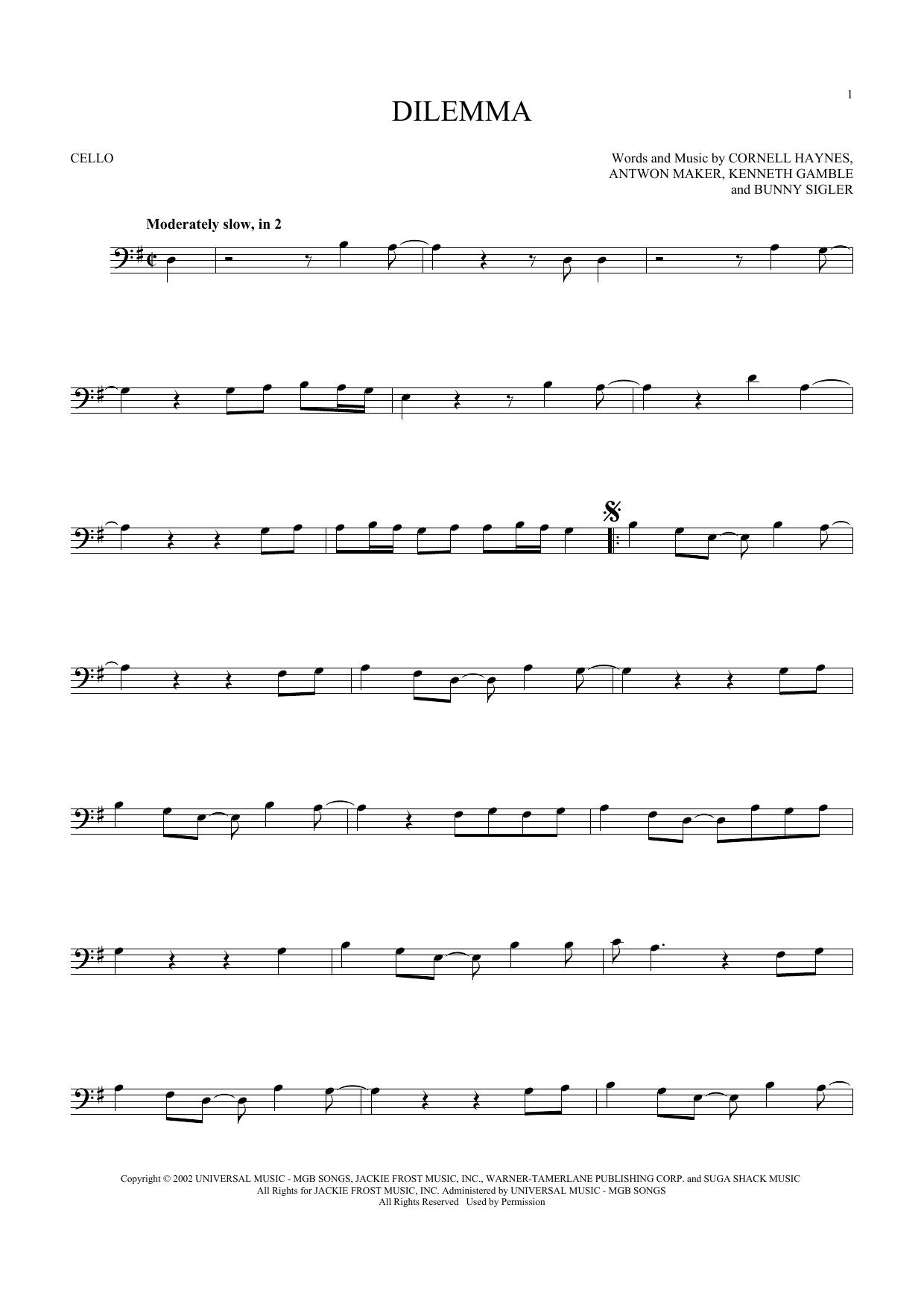 Dilemma (Cello Solo)