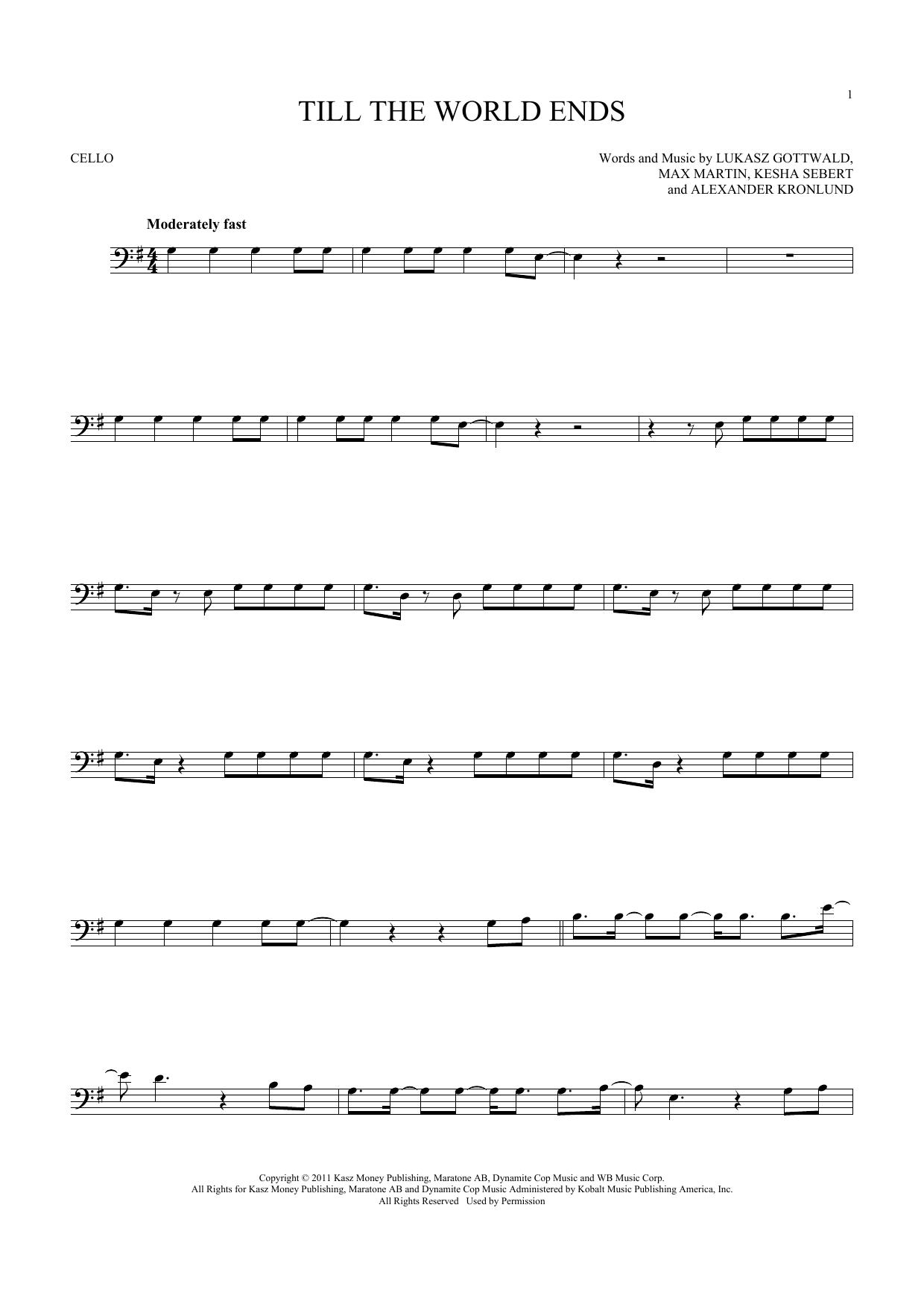 Till The World Ends (Cello Solo)